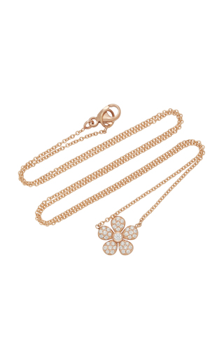 COLETTE JEWELRY | Colette Jewelry Ivy 18K Rose Gold Pendant Necklace | Goxip