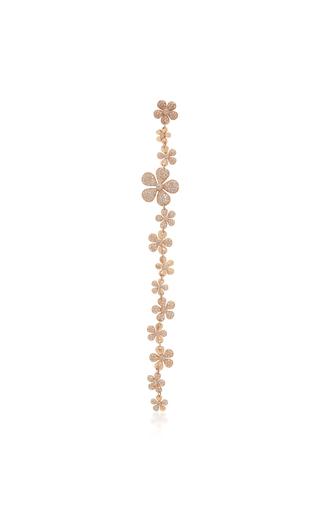 COLETTE JEWELRY | Colette Jewelry Alejandra 18K Rose Gold And Diamond Single Drop Earring | Goxip