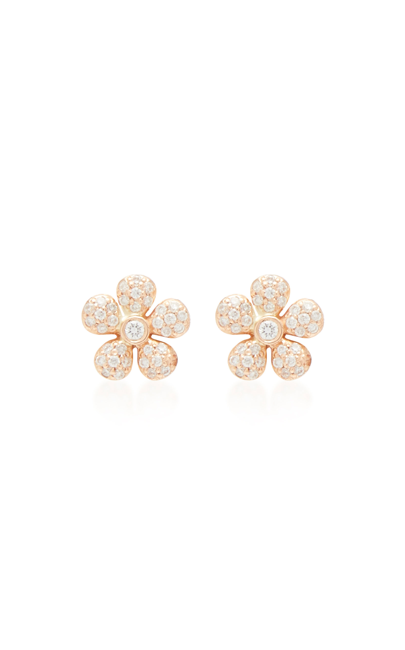 COLETTE JEWELRY 18K Gold And Diamond Earrings in Pink