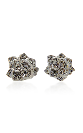 COLETTE JEWELRY | Colette Jewelry 18K Black Gold and Diamond Earrings | Goxip
