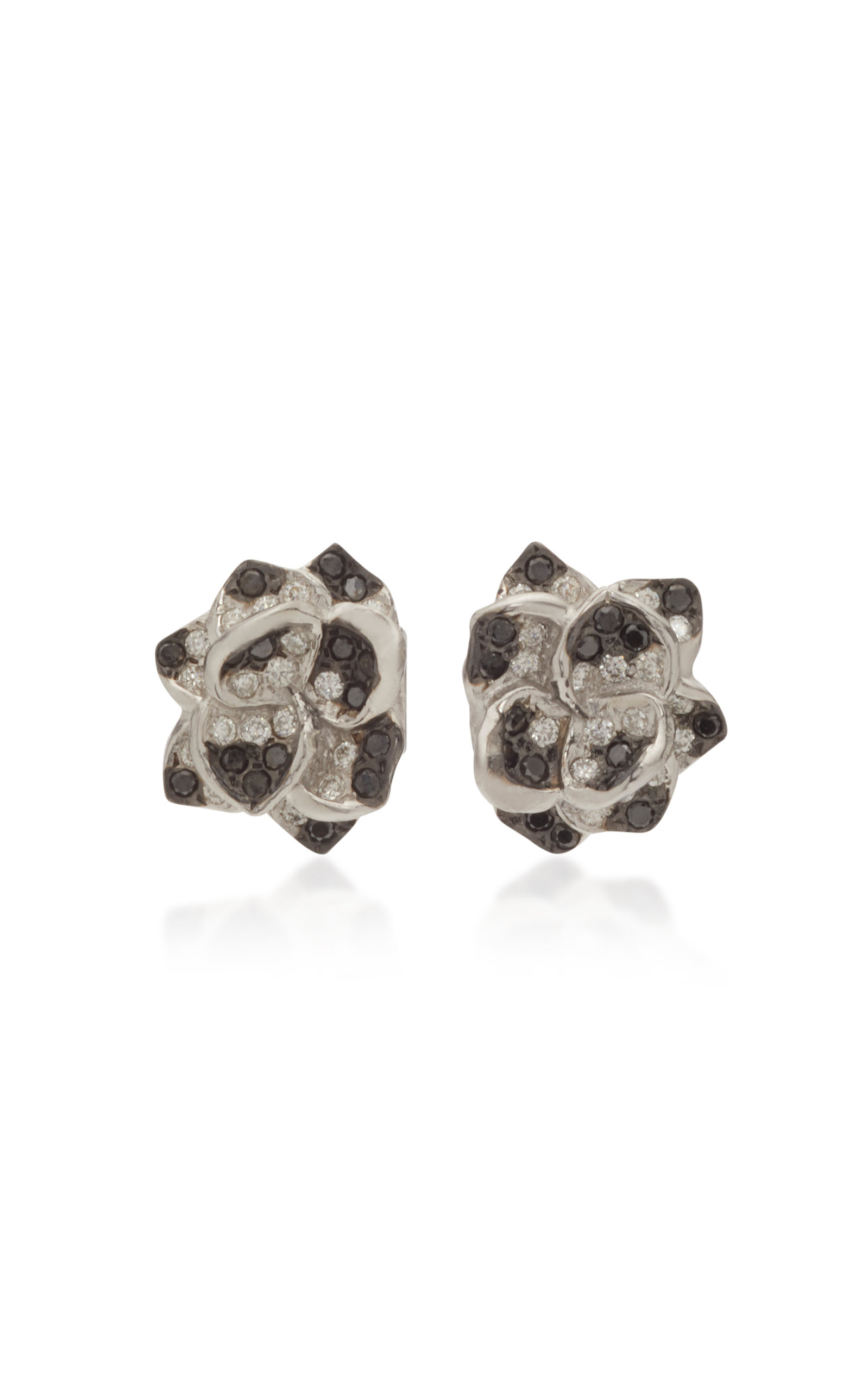 COLETTE JEWELRY 18K White Gold And Diamond Earrings in Black