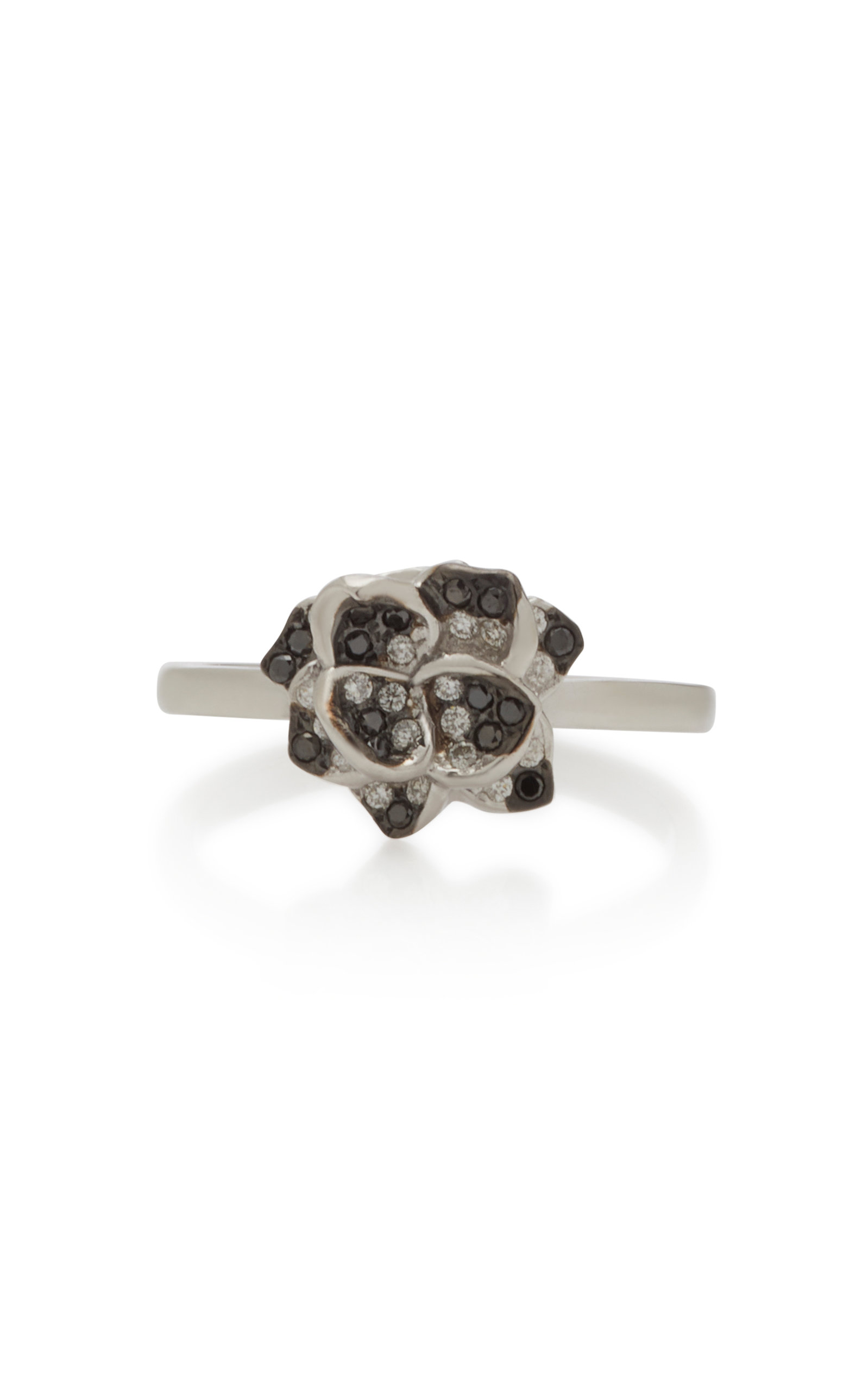 COLETTE JEWELRY 18K White Gold And Black Diamond Ring