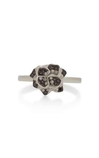 COLETTE JEWELRY | Colette Jewelry 18K White Gold and Black Diamond Ring | Goxip