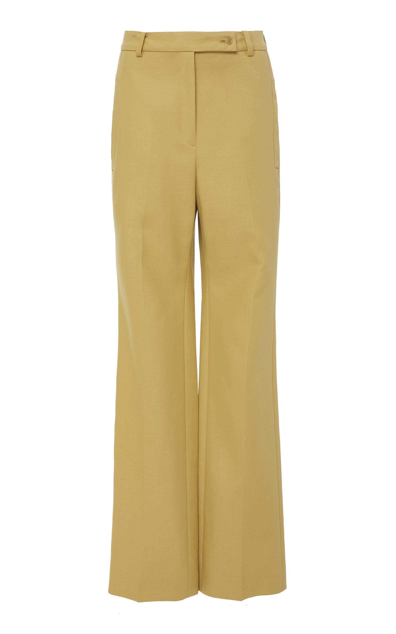 CYCLAS COTTON CLOTH SEMI FLARE PANTS
