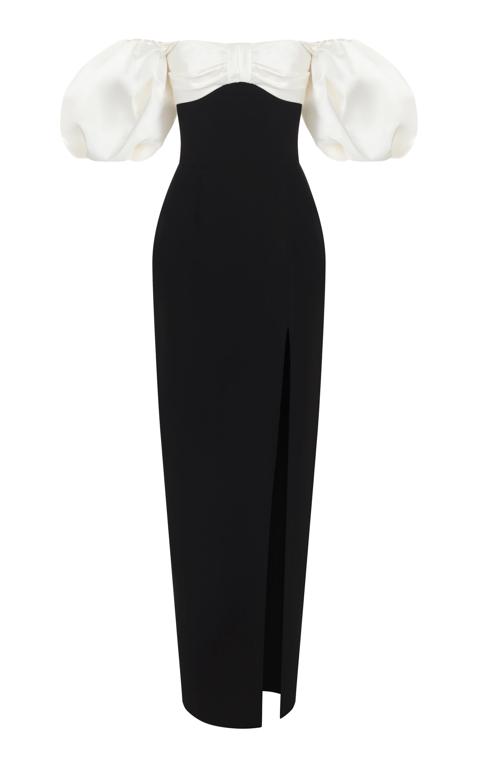 PUFF SLEEVE EVENING GOWN