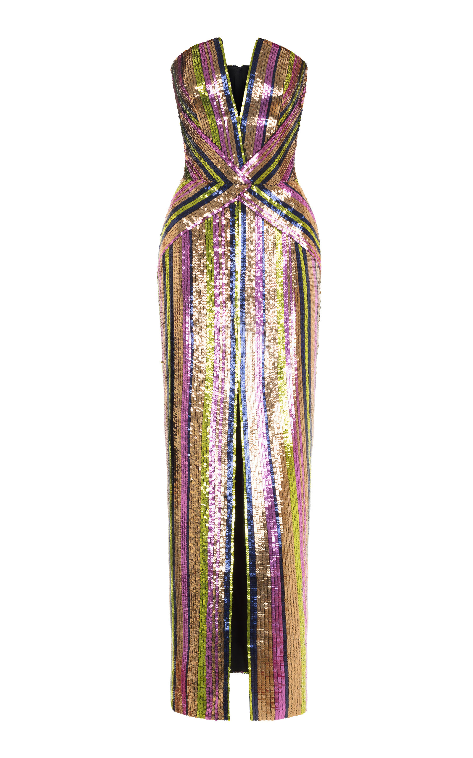 RASARIO SEQUIN FITTED GOWN