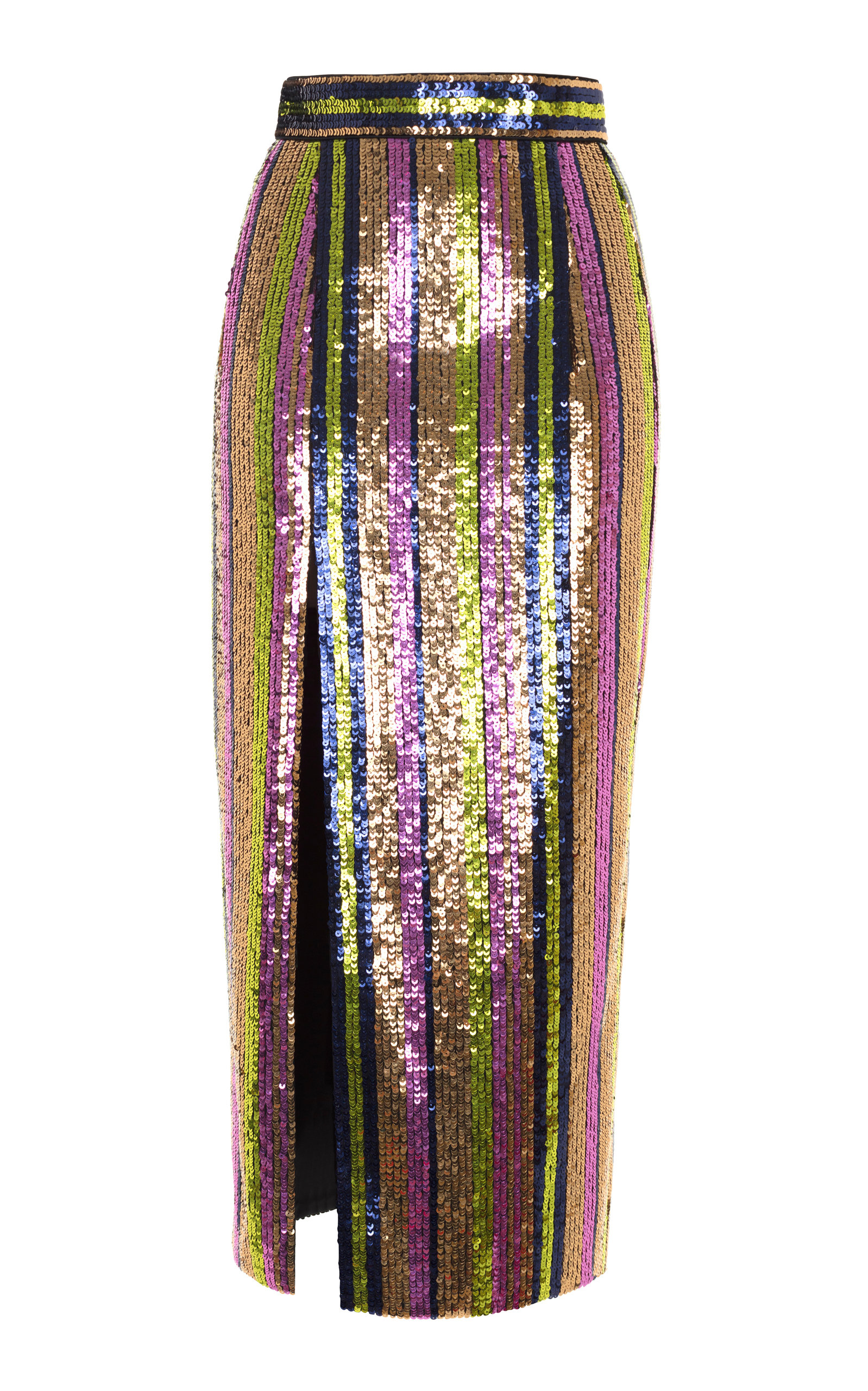RASARIO SEQUIN MIDI SKIRT