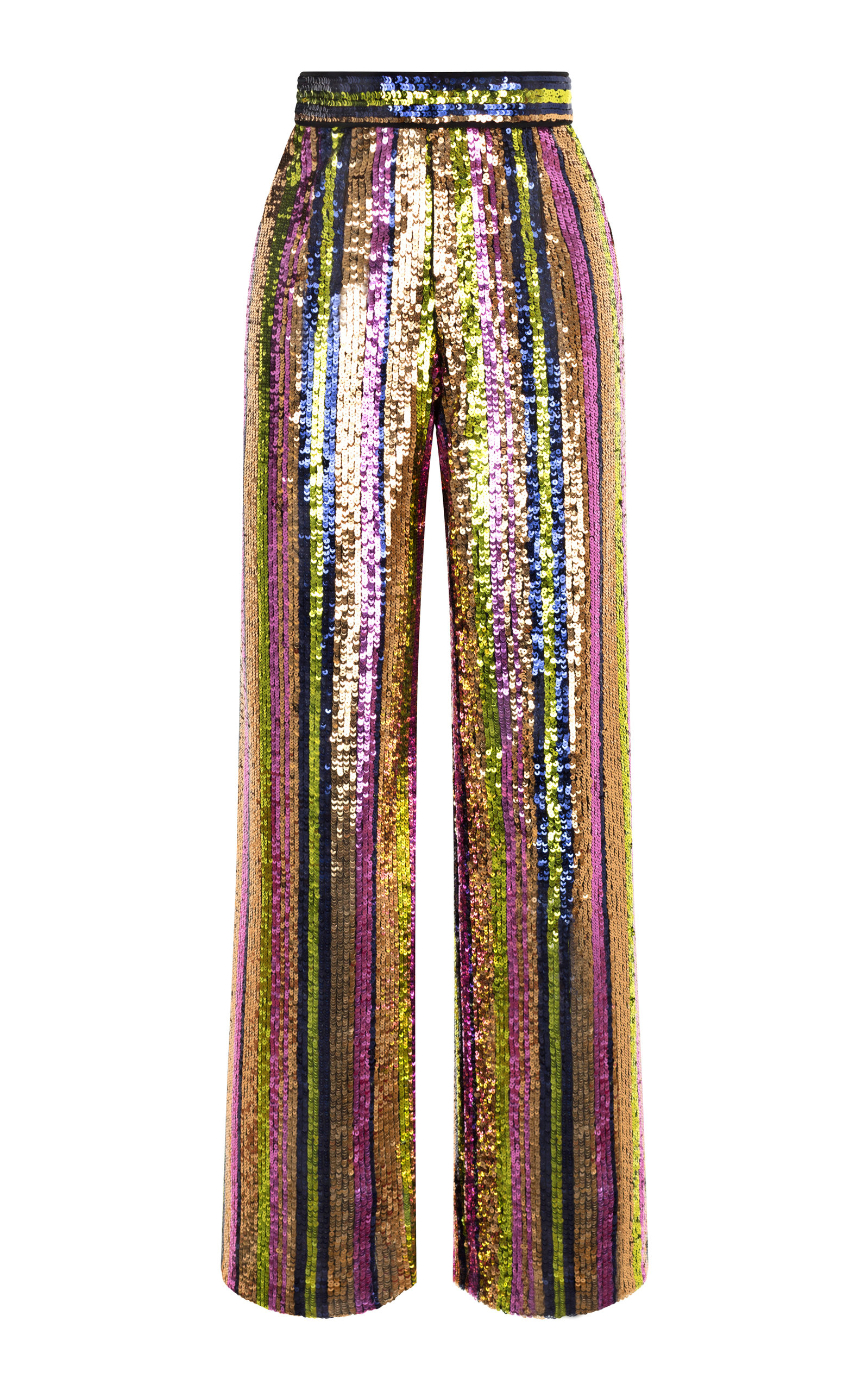 RASARIO WIDE LEG SEQUIN PANTS