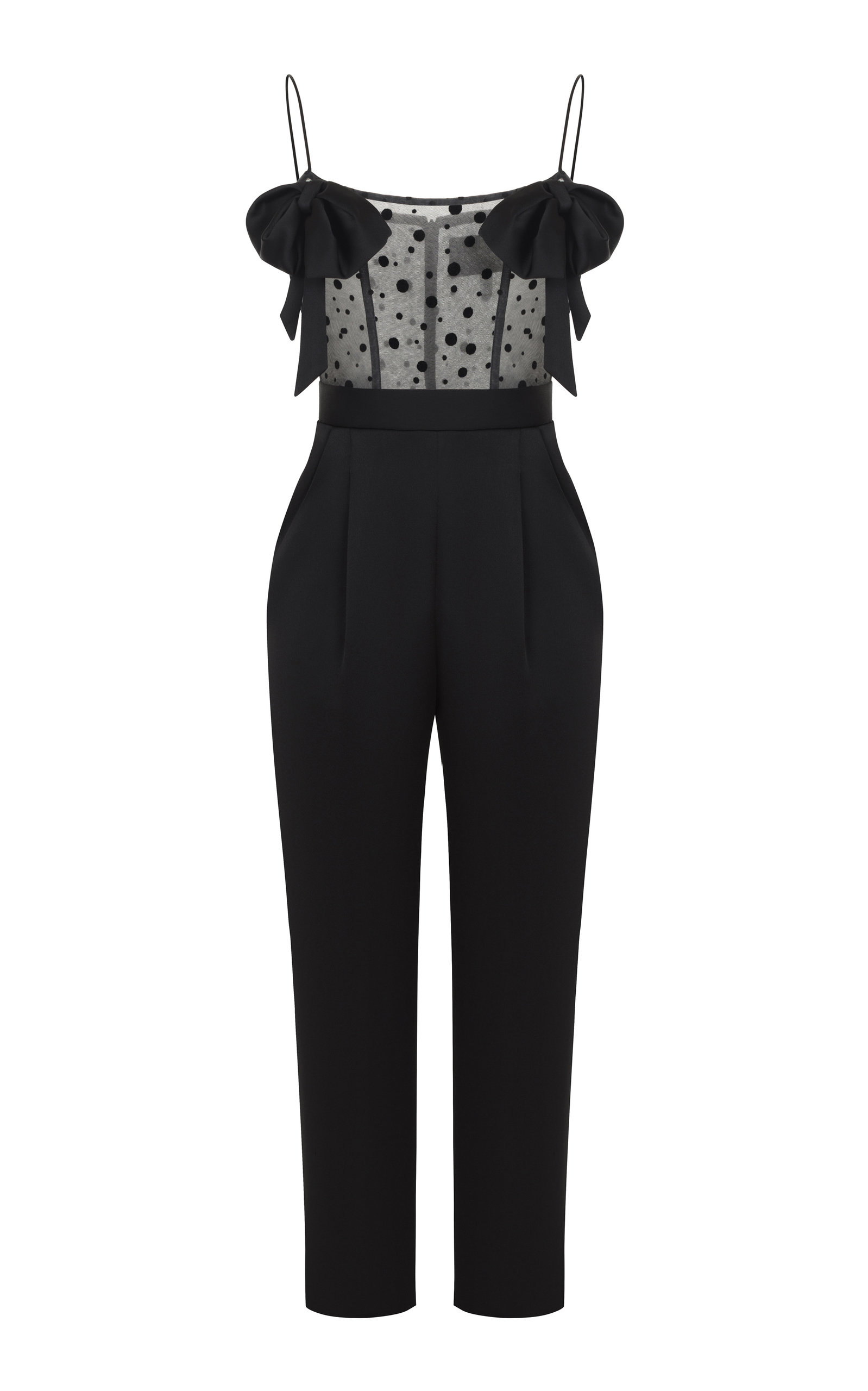 RASARIO SHEER TOP JUMPSUIT