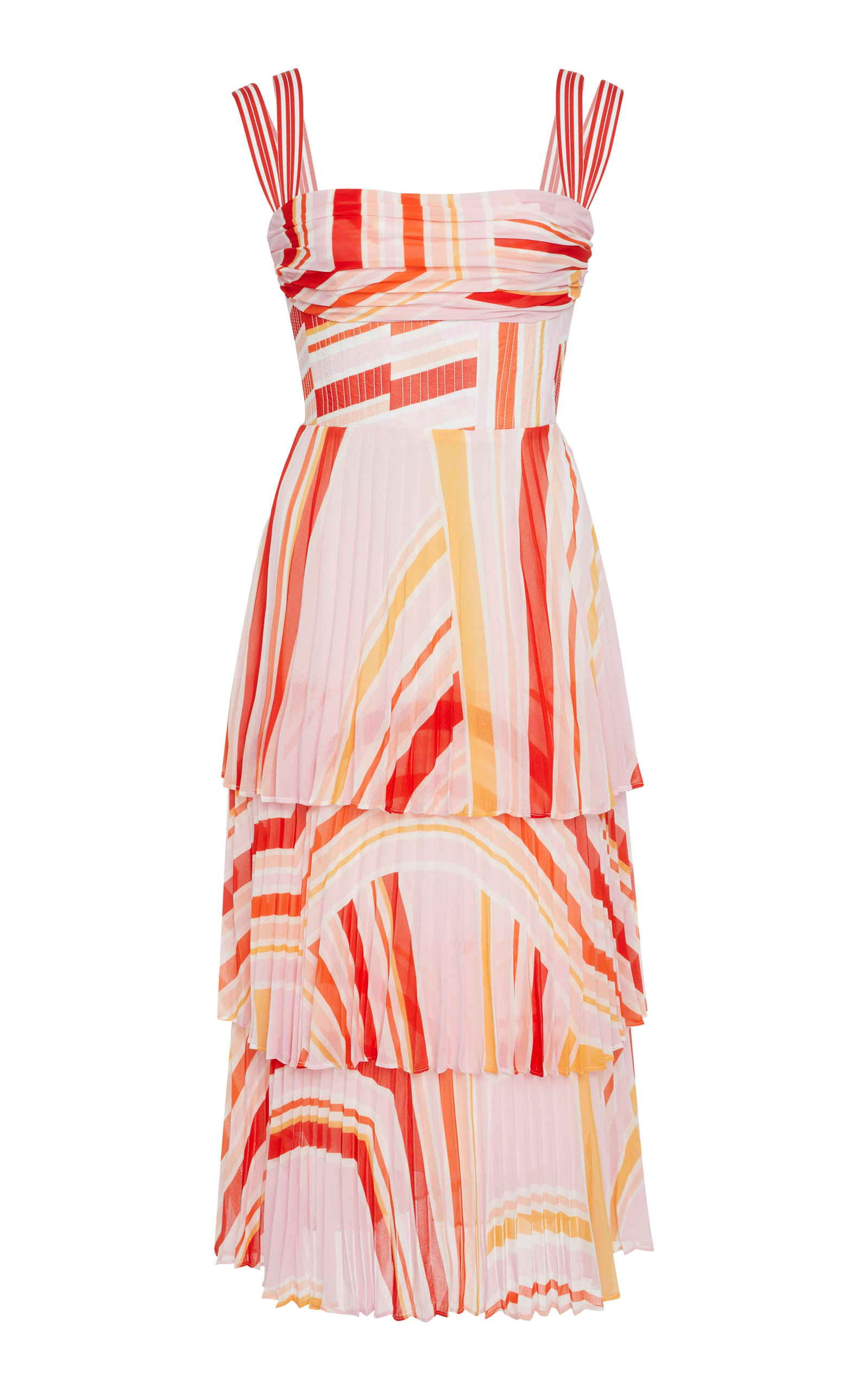 RACHEL GILBERT SOEKIE PLEATED MIDI DRESS