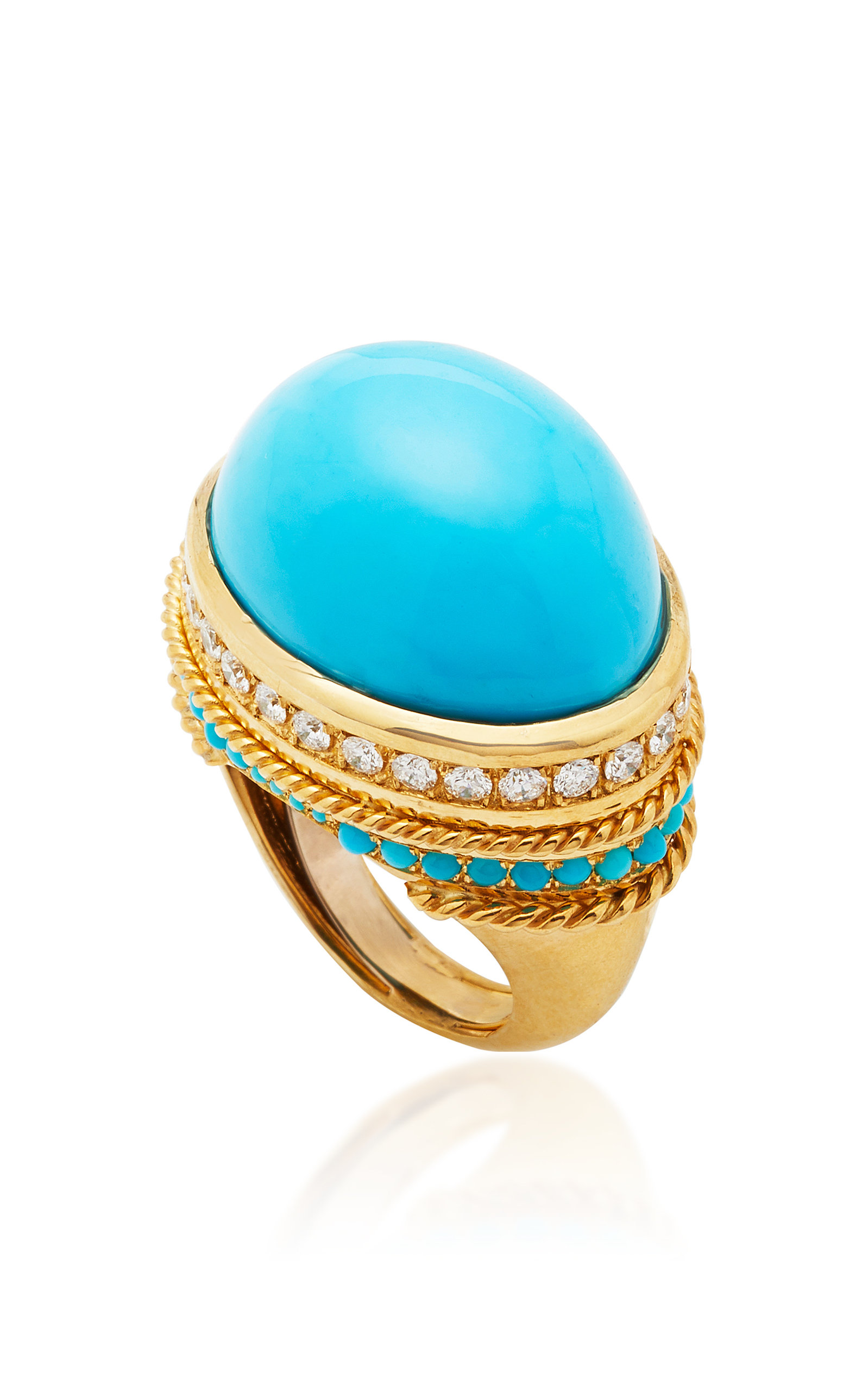 THE LAST LINE TURQUOISE BOMBE COCKTAIL RING
