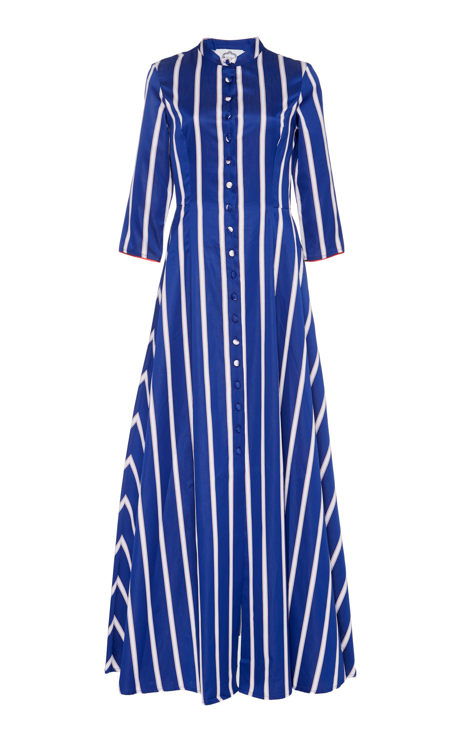 5df28be42f Carine Striped Cotton Maxi Shirt Dress by Evi Grintela