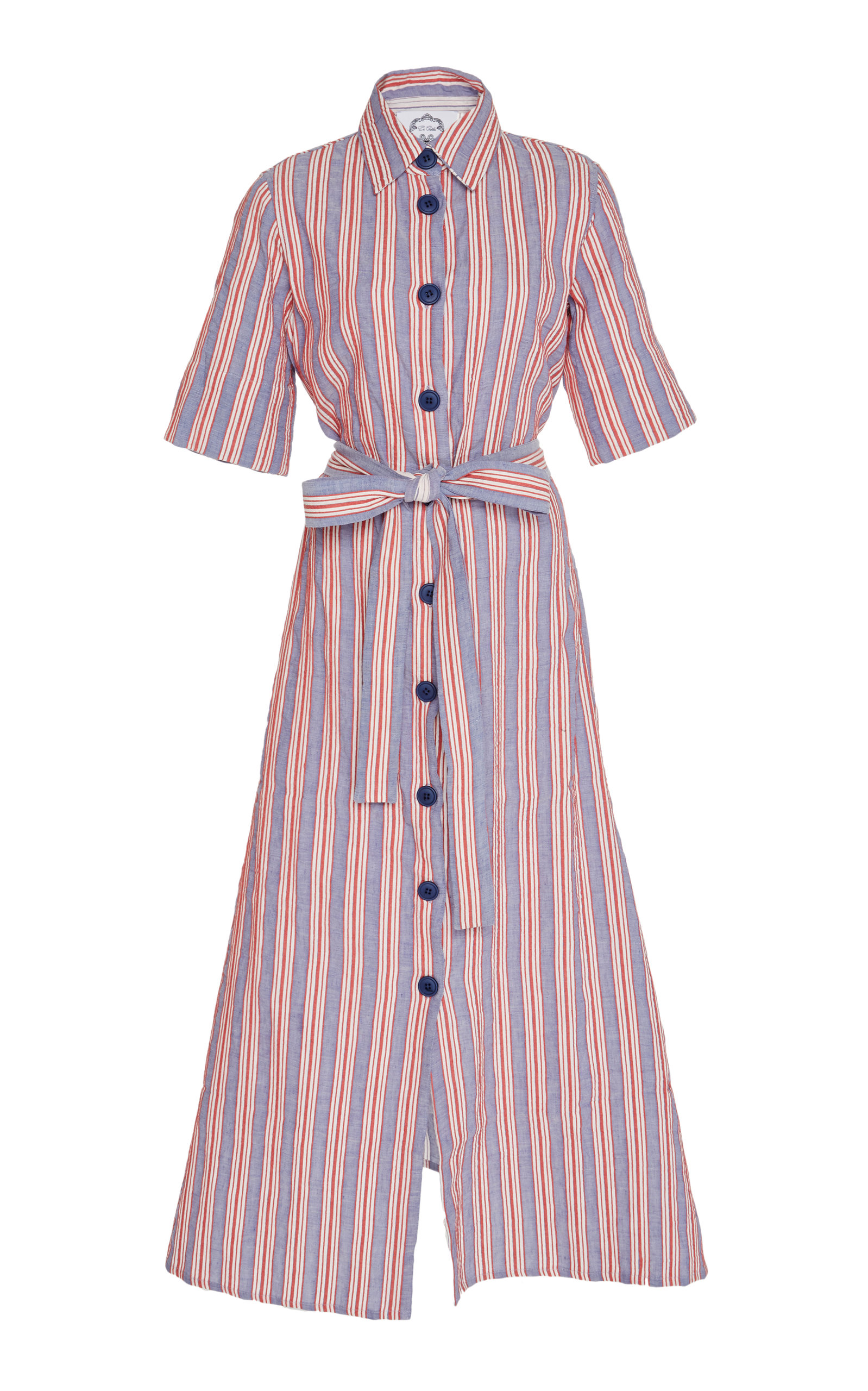 5e100fc38dcf Valerie Striped Cotton Midi Shirt Dress by Evi Grintela