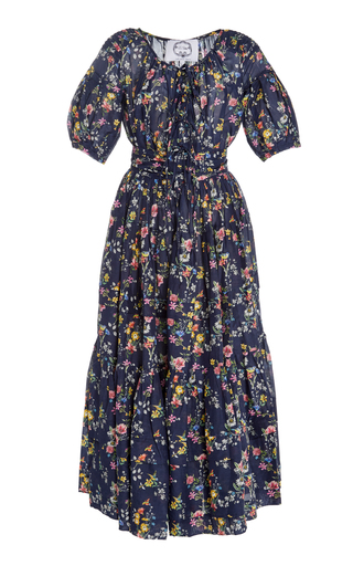 EVI GRINTELA | Evi Grintela Victoire Printed Cotton And Silk Maxi Dress | Goxip