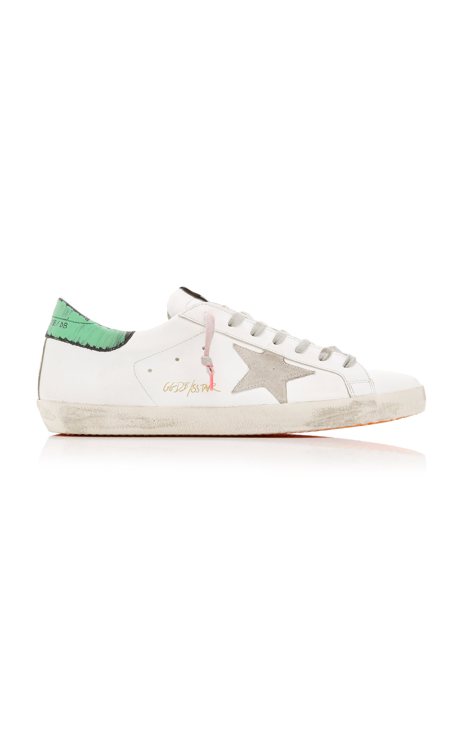 GOLDEN GOOSE DELUXE BRAND | Golden Goose Superstar Low-Top Leather Sneakers | Goxip