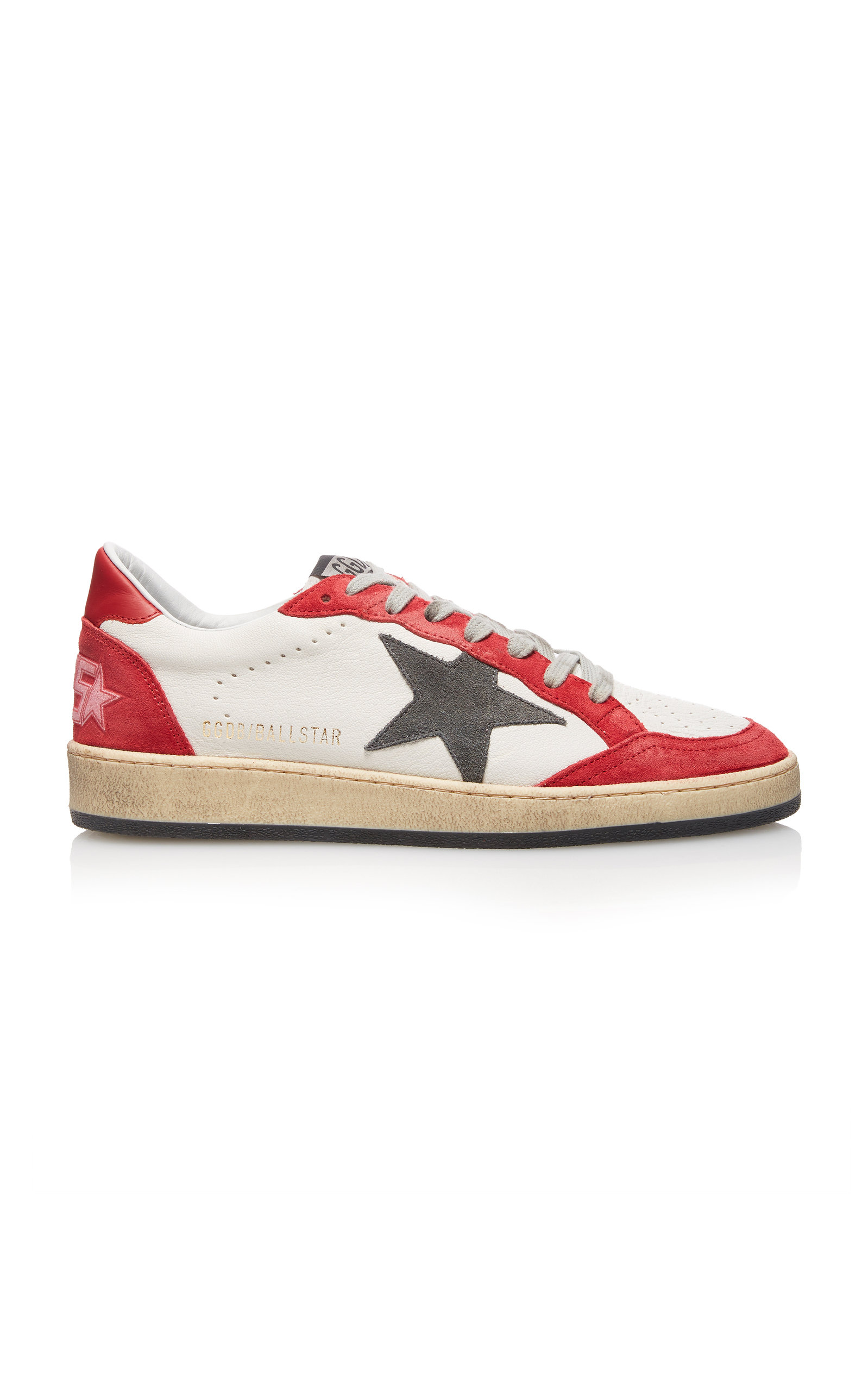 GOLDEN GOOSE DELUXE BRAND | Golden Goose Ball Star Low-Top Leather Sneakers | Goxip