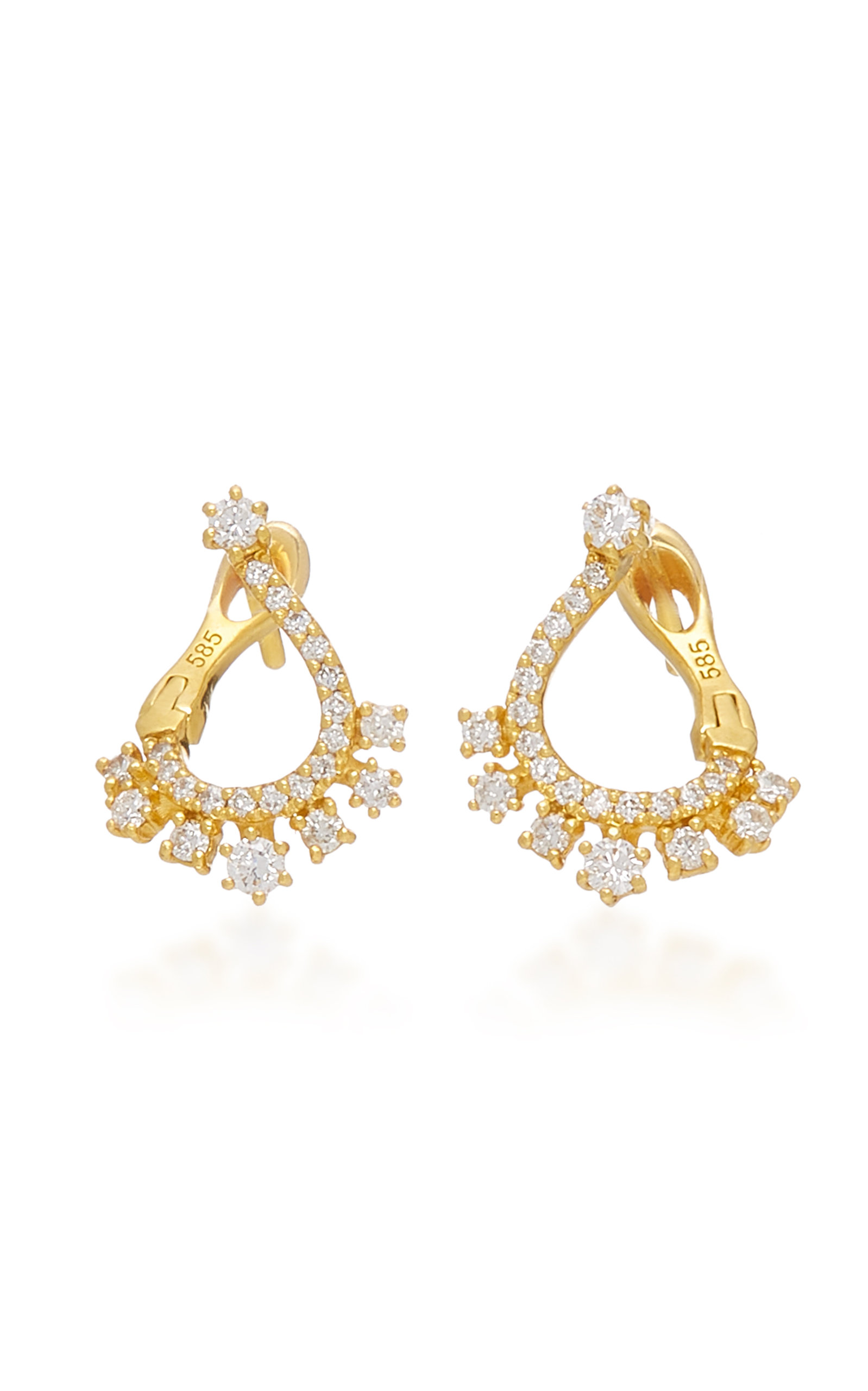 COLETTE JEWELRY | Colette Jewelry Entwined 14K Gold And Diamond Earrings | Goxip