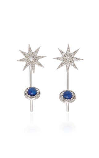 COLETTE JEWELRY   Colette Jewelry Halley 18K Gold And Diamond Earrings   Goxip