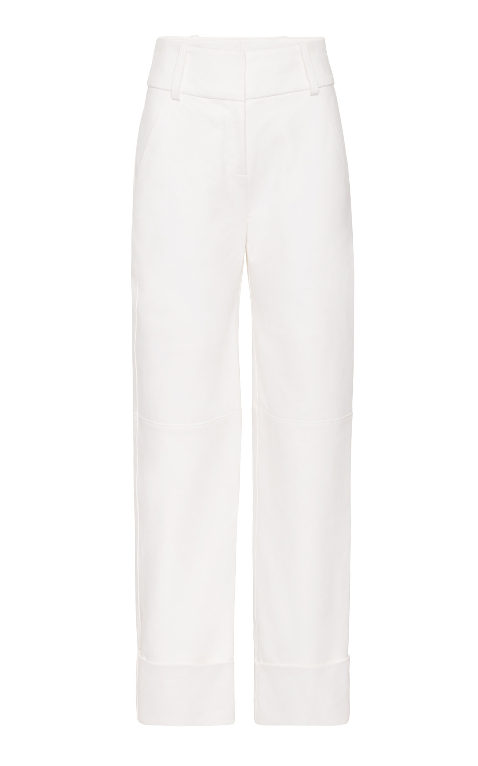 MARINA MOSCONE PAINTER'S TAILORED LEATHER TROUSER