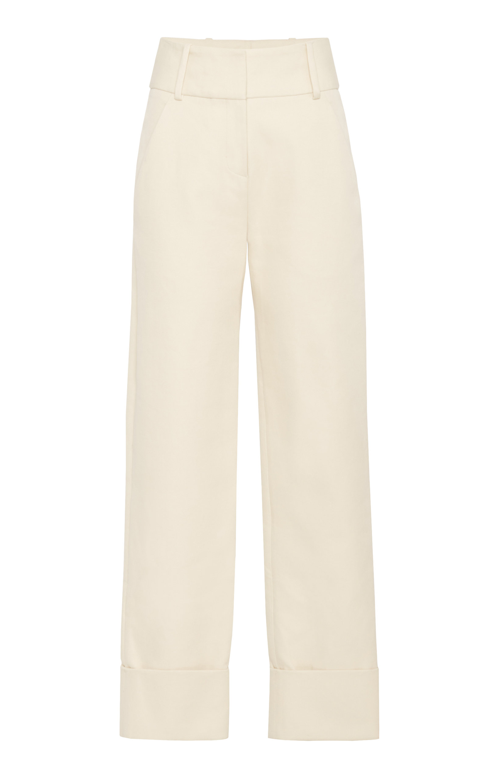 MARINA MOSCONE PAINTER'S TAILORED CUFFED TROUSER