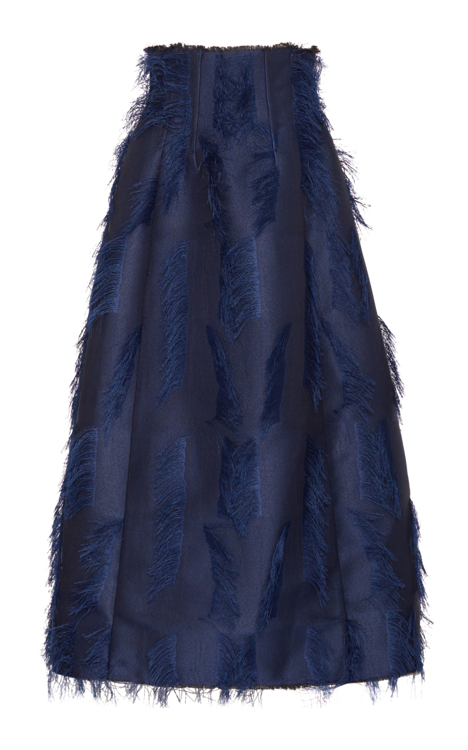 MARINA MOSCONE Deconstructed Dirndl Skirt in Navy