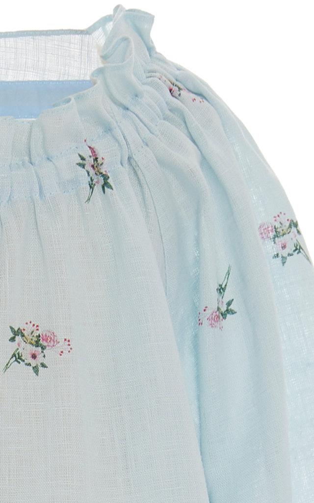 0c908f7ebf SleeperKids Off-The-Shoulder Floral Linen Midi Dress. CLOSE. Loading.  Loading. Loading. Loading. Loading