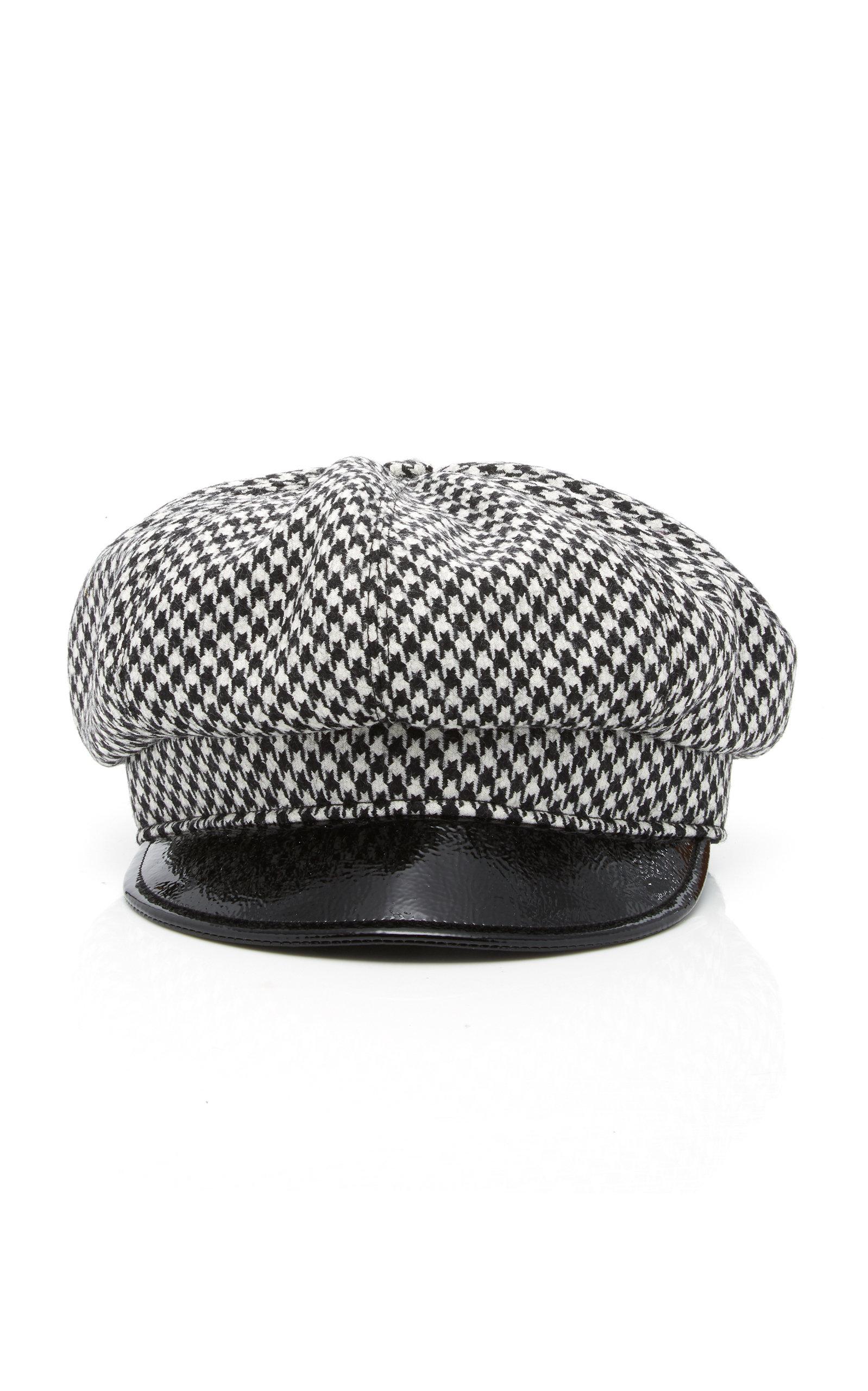Carnaby Packable Baker Boy Cap - Black in Black/White