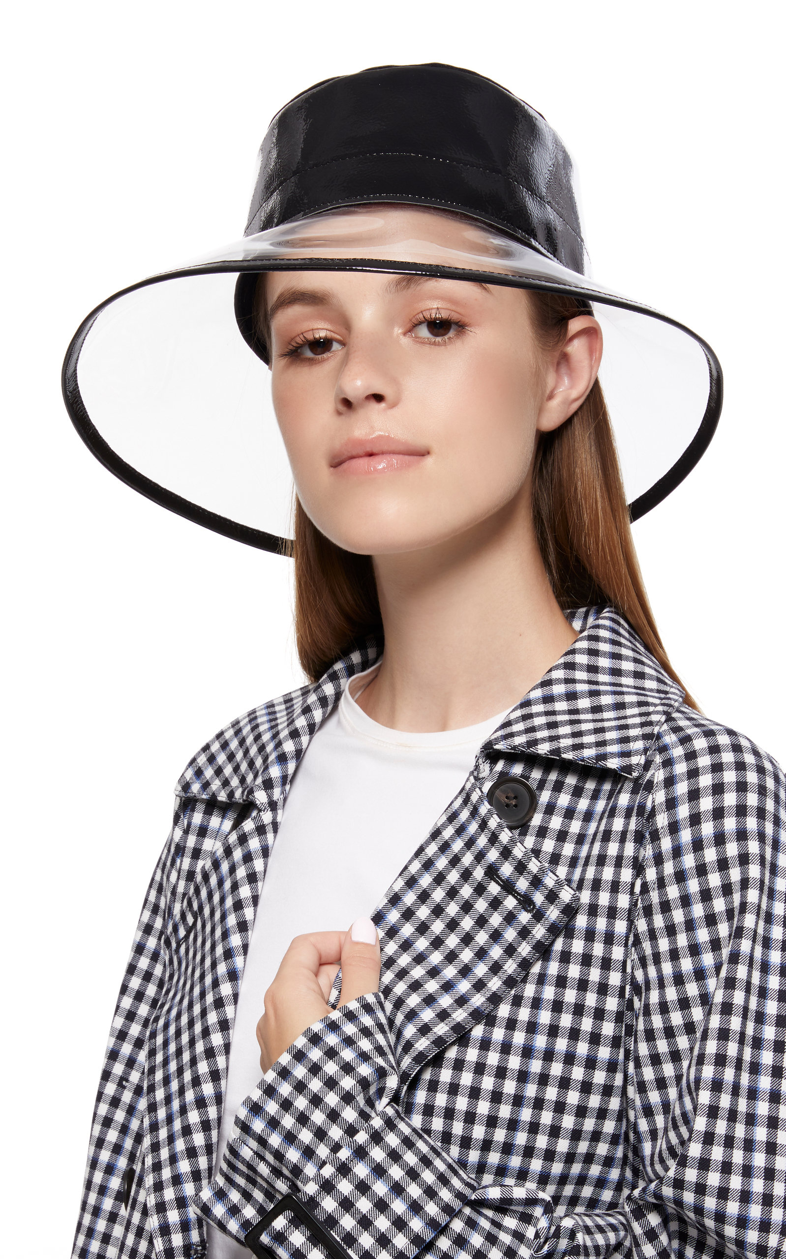 Eric Javits Go-Go Patent Leather And Pvc Bucket Hat In Black  867a966438e