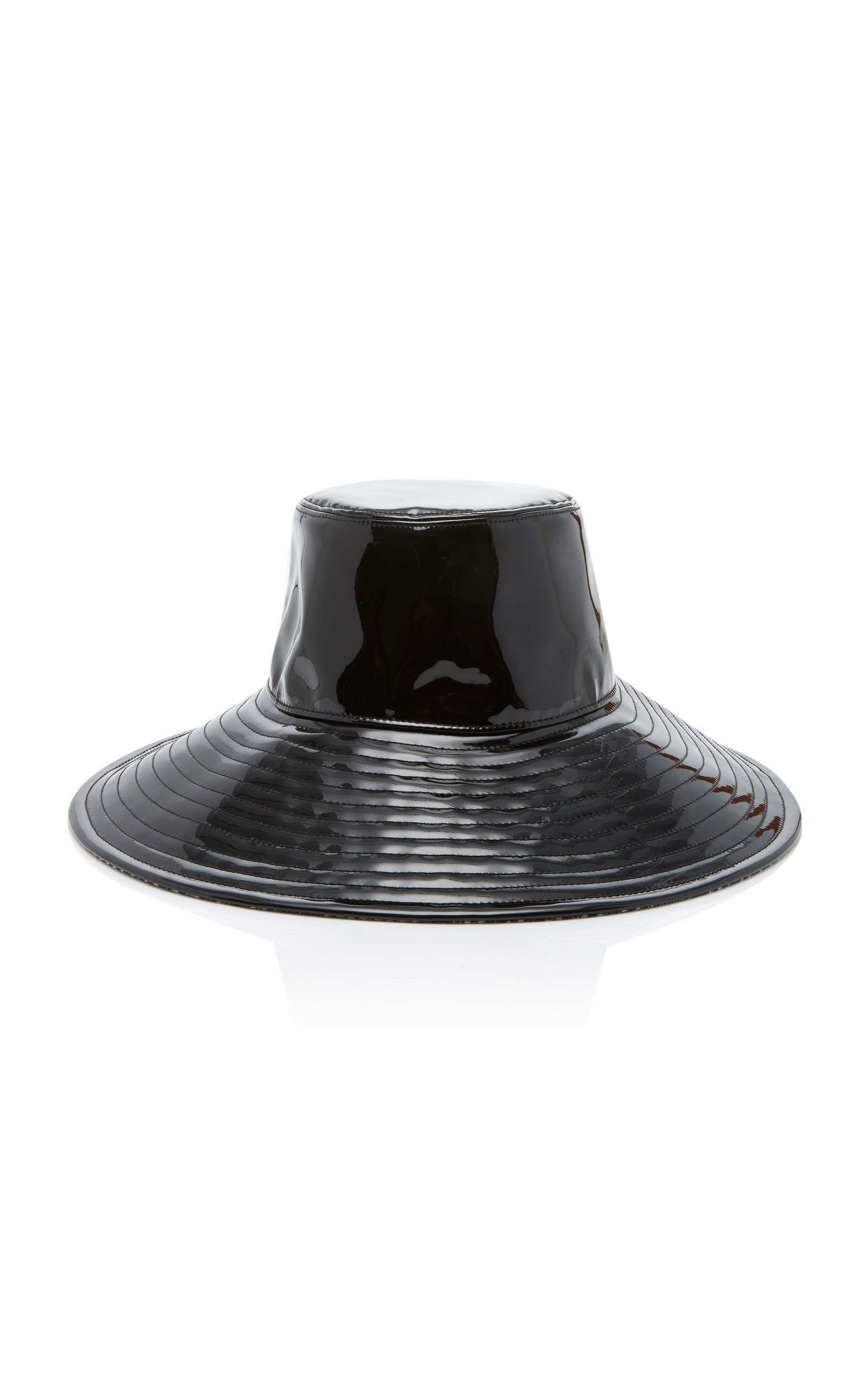 cafdafc26e1a9 Eric JavitsDriptidoo Patent Leather Bucket Hat. CLOSE. Loading