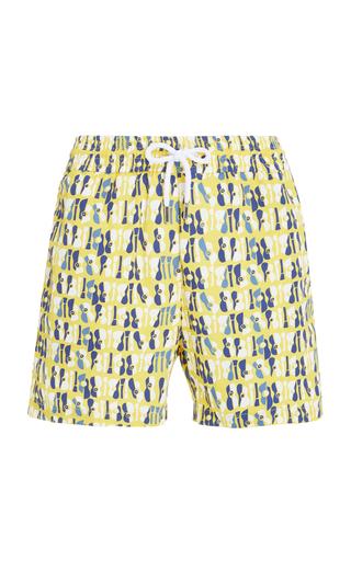 FRESCOBOL CARIOCA | Frescobol Carioca Oraganico Printed Swim Shorts | Goxip