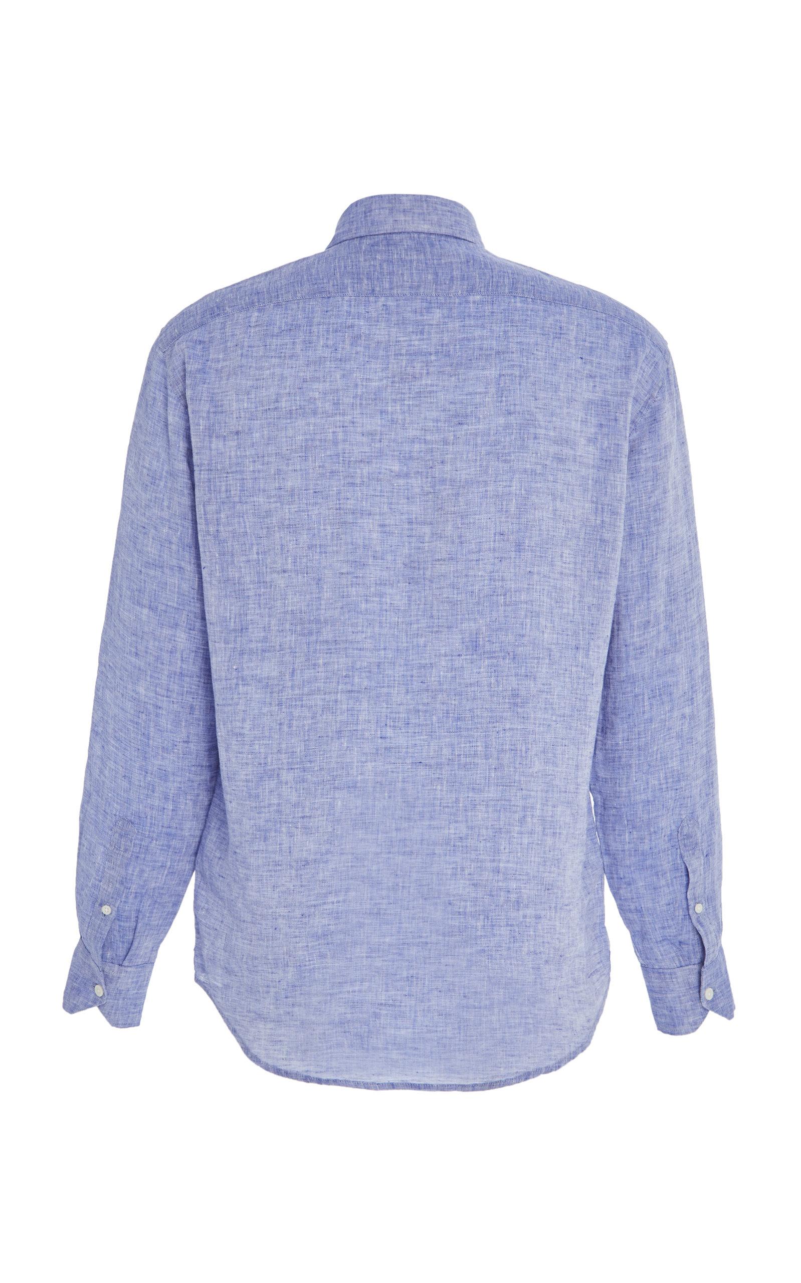 3ff435590d Slim-Fit Linen Button-Up Shirt