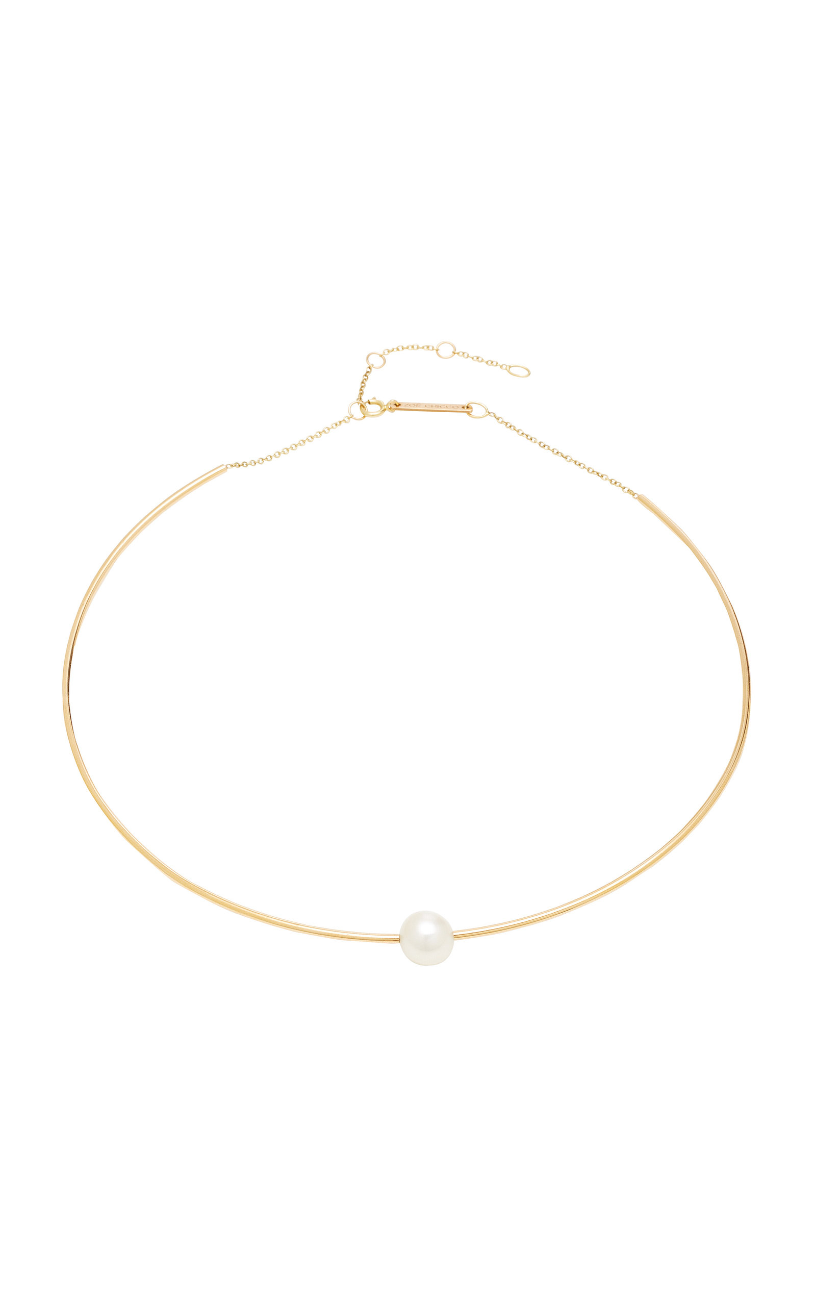 1c3659f0d8354 14K White Pearl Wire Choker