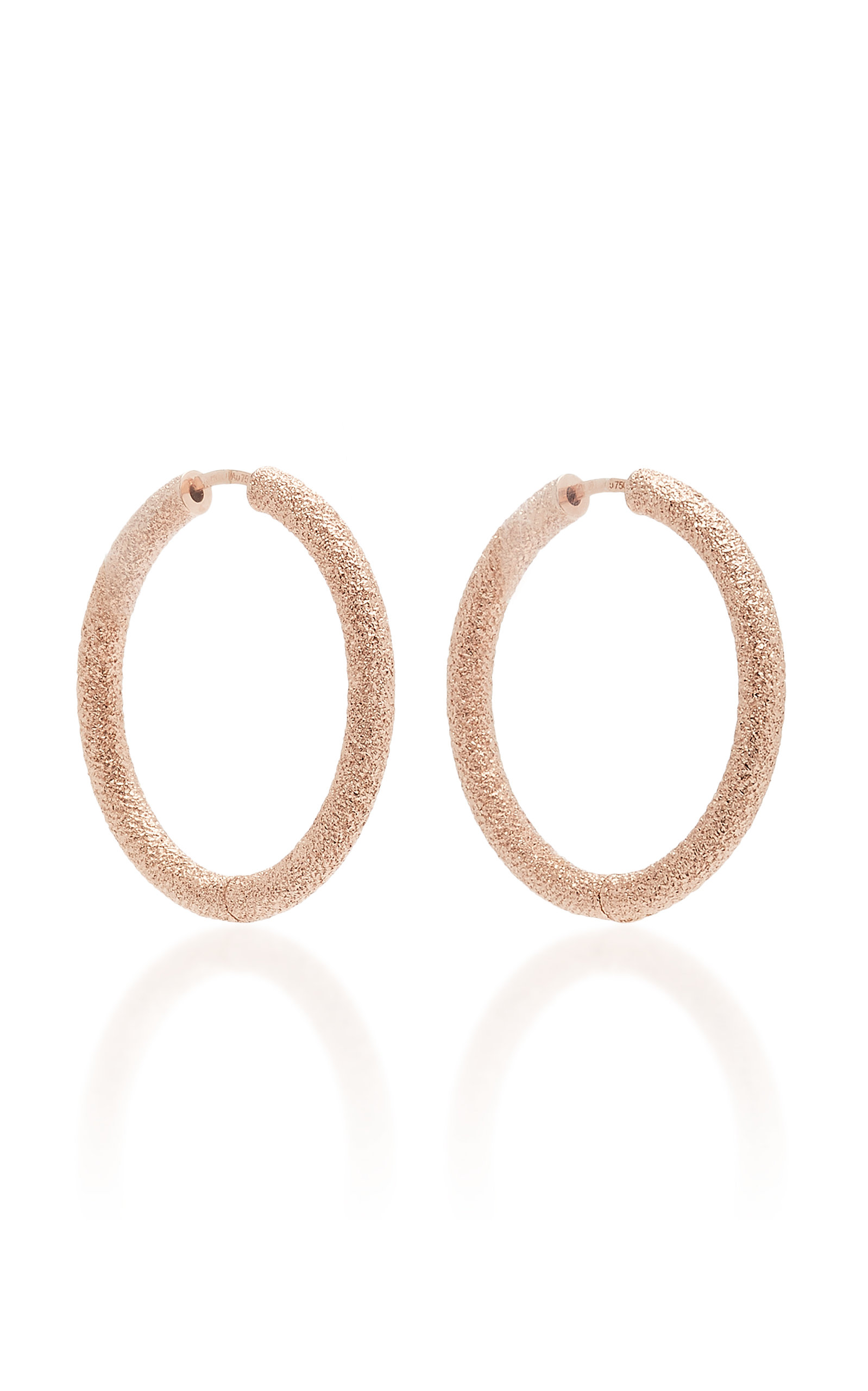 CAROLINA BUCCI FLORNTINE FINISH SMALL THICK ROUND HOOP EARRINGS