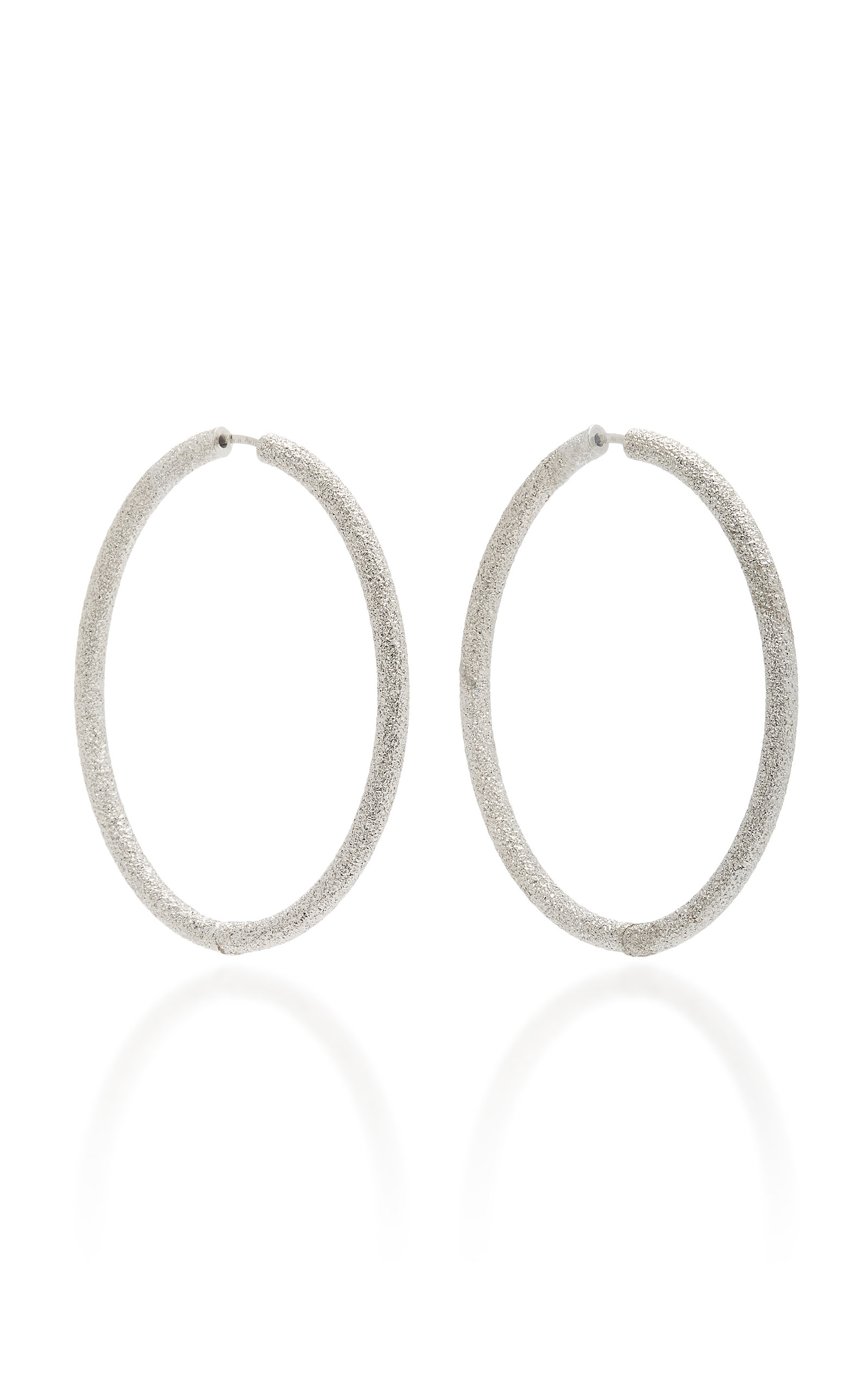 FLORENTINE FINISH EXTRA LARGE OVAL THICK HOOP EARRINGS