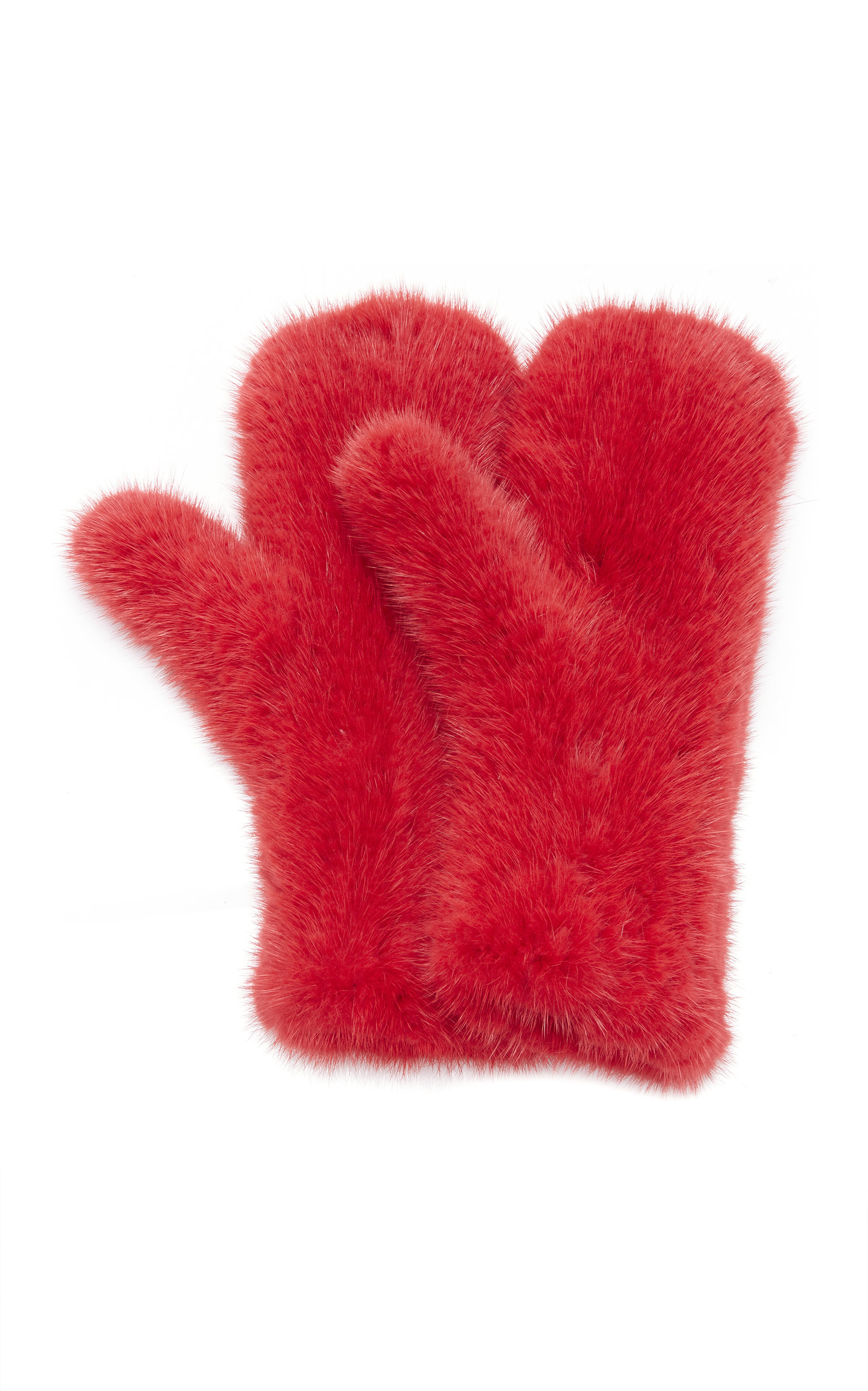 THE KNITTED MINK MITTENS