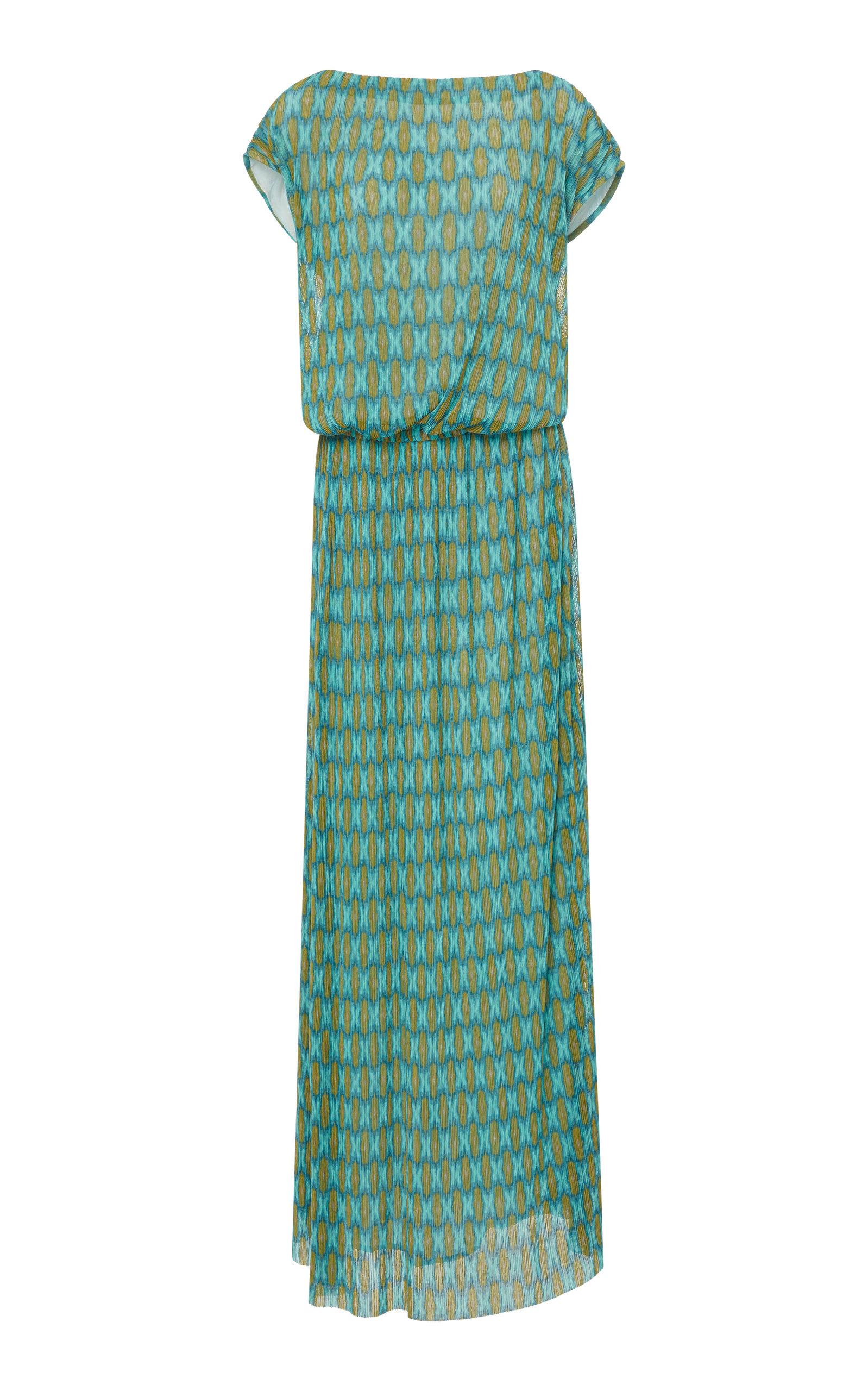 VERANDAH | VERANDAH Sunset Pleated Maxi Dress | Goxip