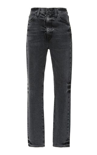 SLVRLAKE DENIM | SLVRLAKE Denim Beatnik High-Rise Slim-Leg Jeans | Goxip