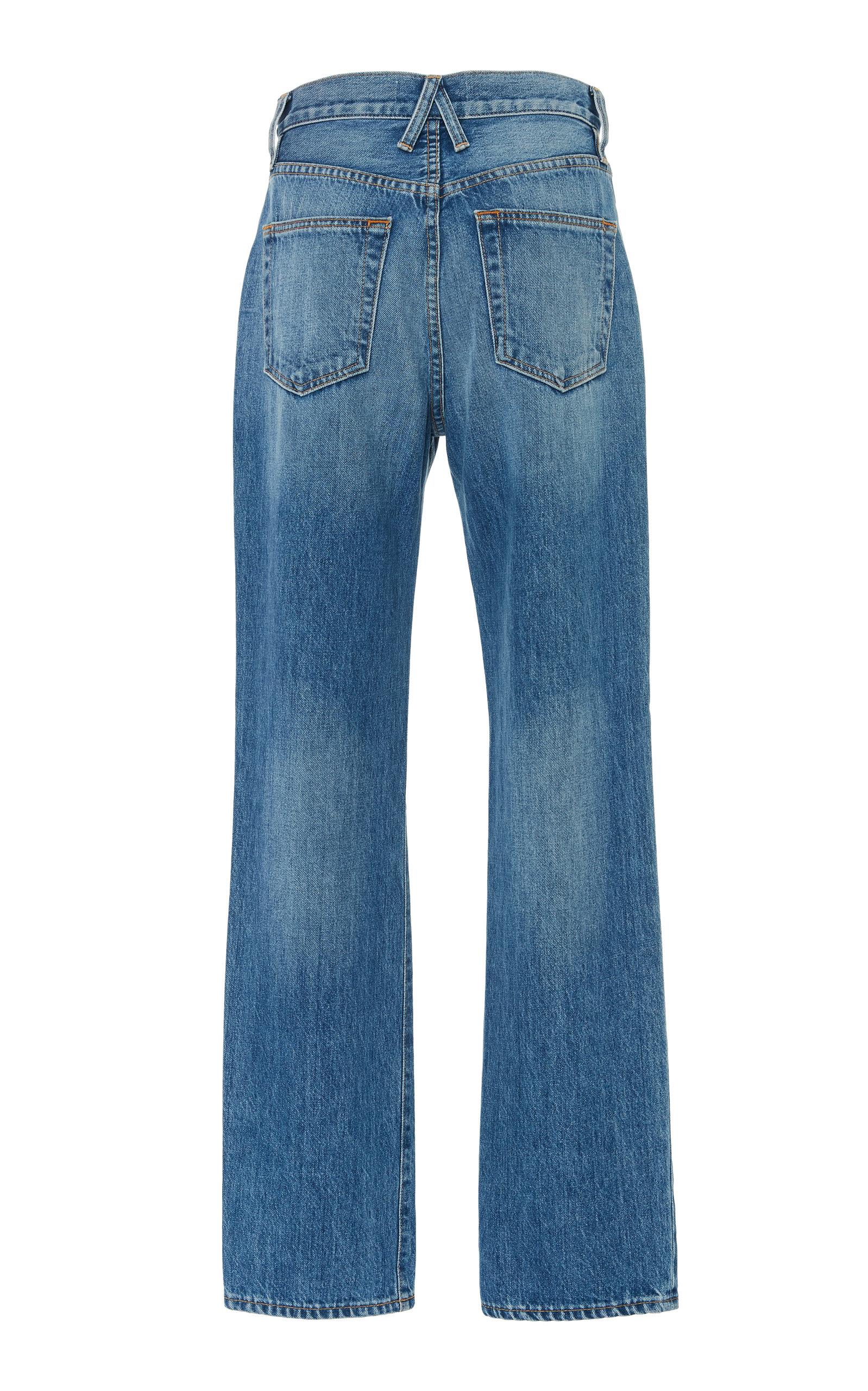 6cc5b5437e6030 SLVRLAKE DenimLondon High-Waisted Straight-Leg Jeans. CLOSE. Loading.  Loading