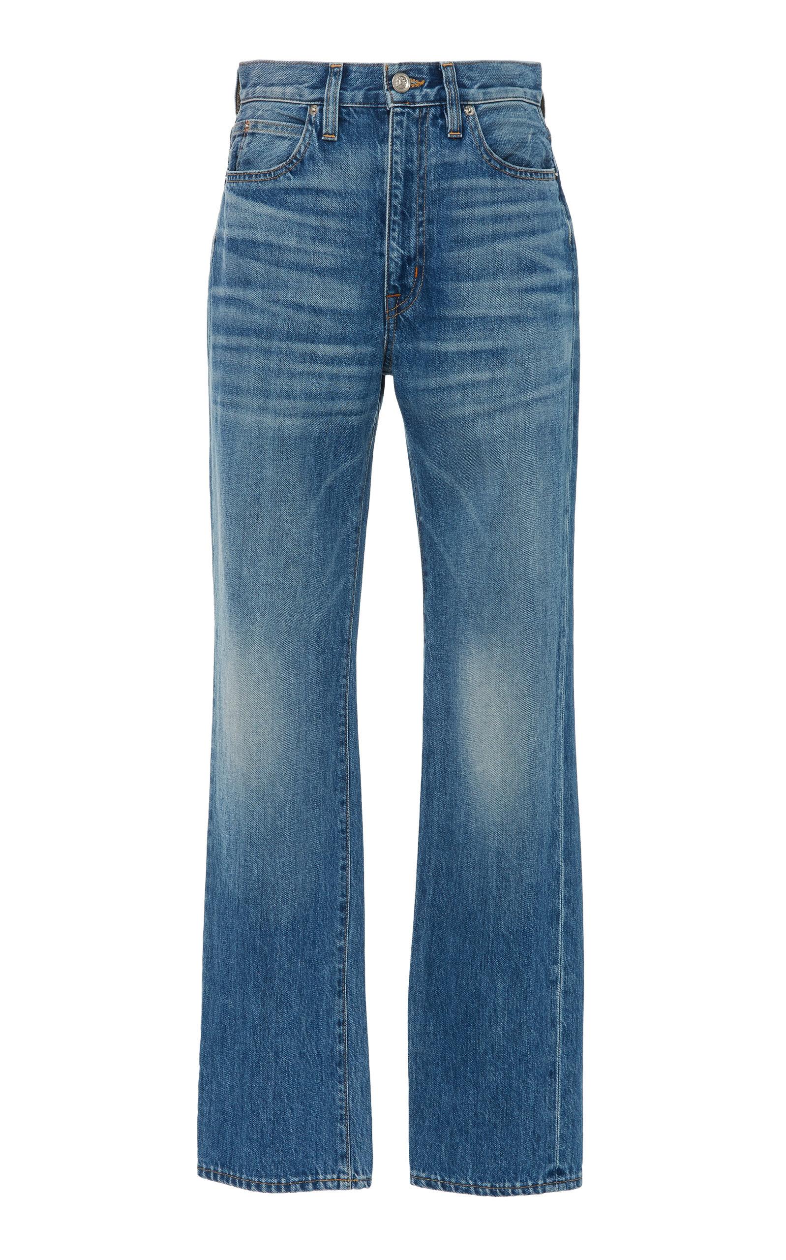 59cbadd3dfc42a London High-Waisted Straight-Leg Jeans by SLVRLAKE Denim   Moda Operandi