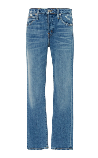 SLVRLAKE DENIM | SLVRLAKE Denim Lou Lou Mid-Rise Slim-Leg Jeans | Goxip