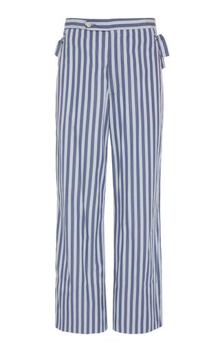 BODE | BODE Tie-Detail Striped Cotton Pants | Goxip