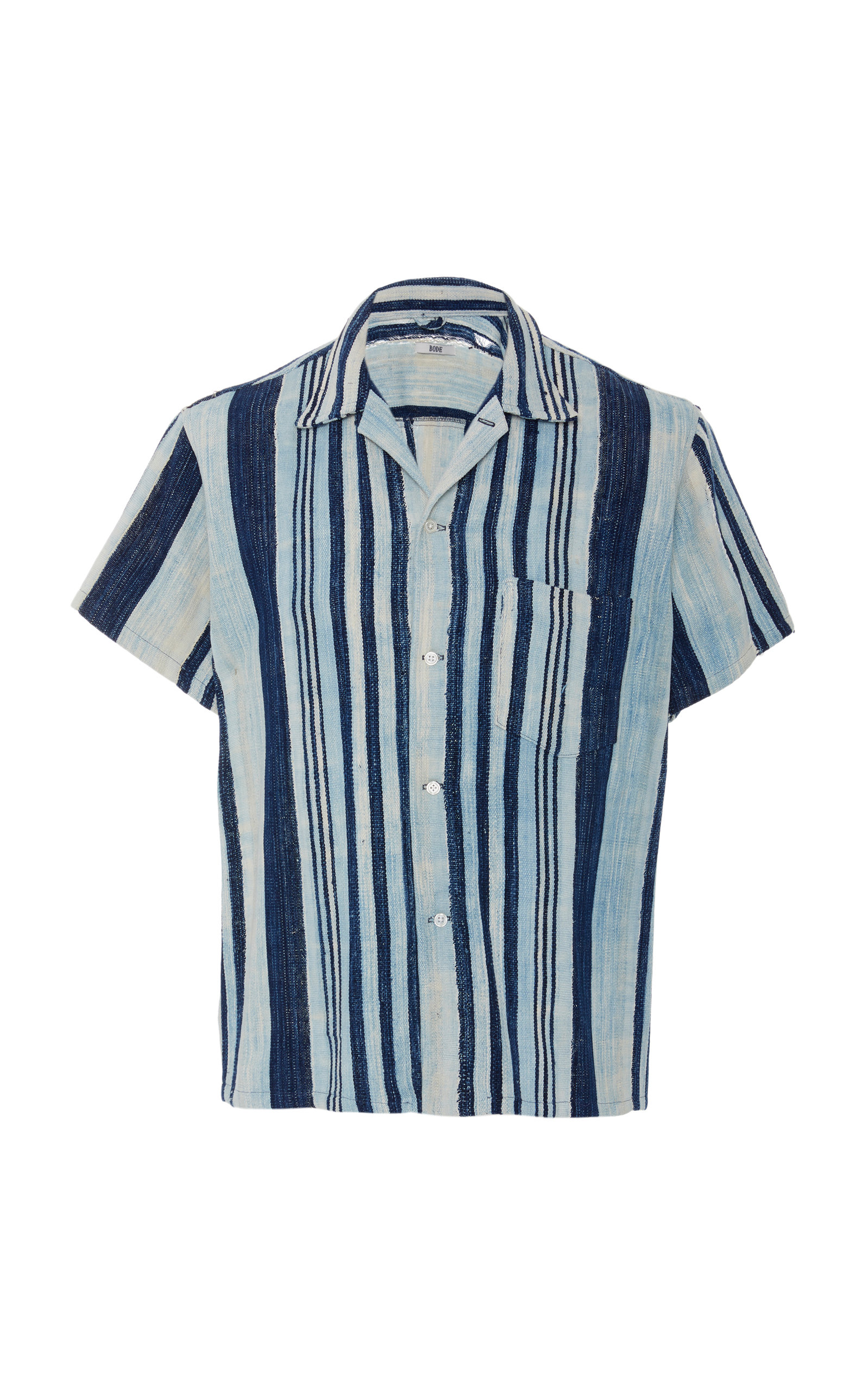 23f31633a0af7 Striped Cotton Bowling Shirt