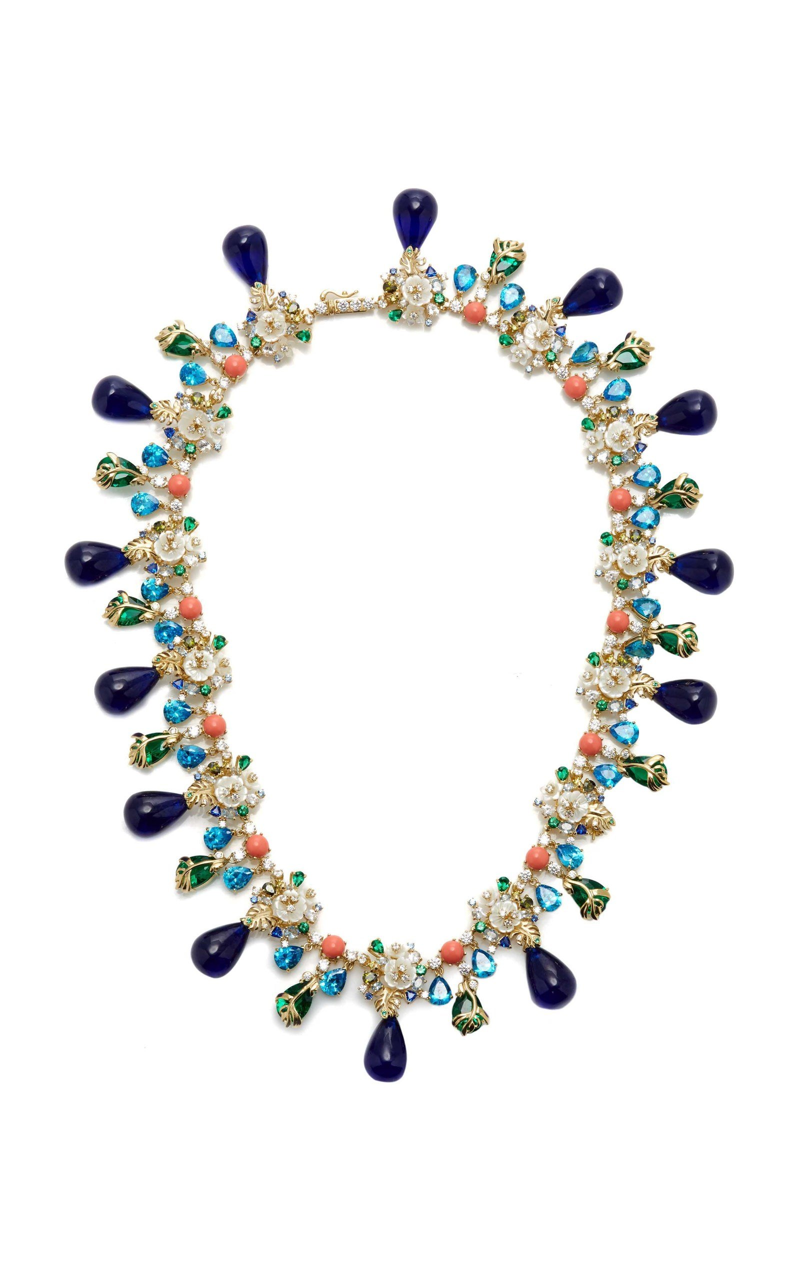PALM PARADISE TANZANITE NECKLACE