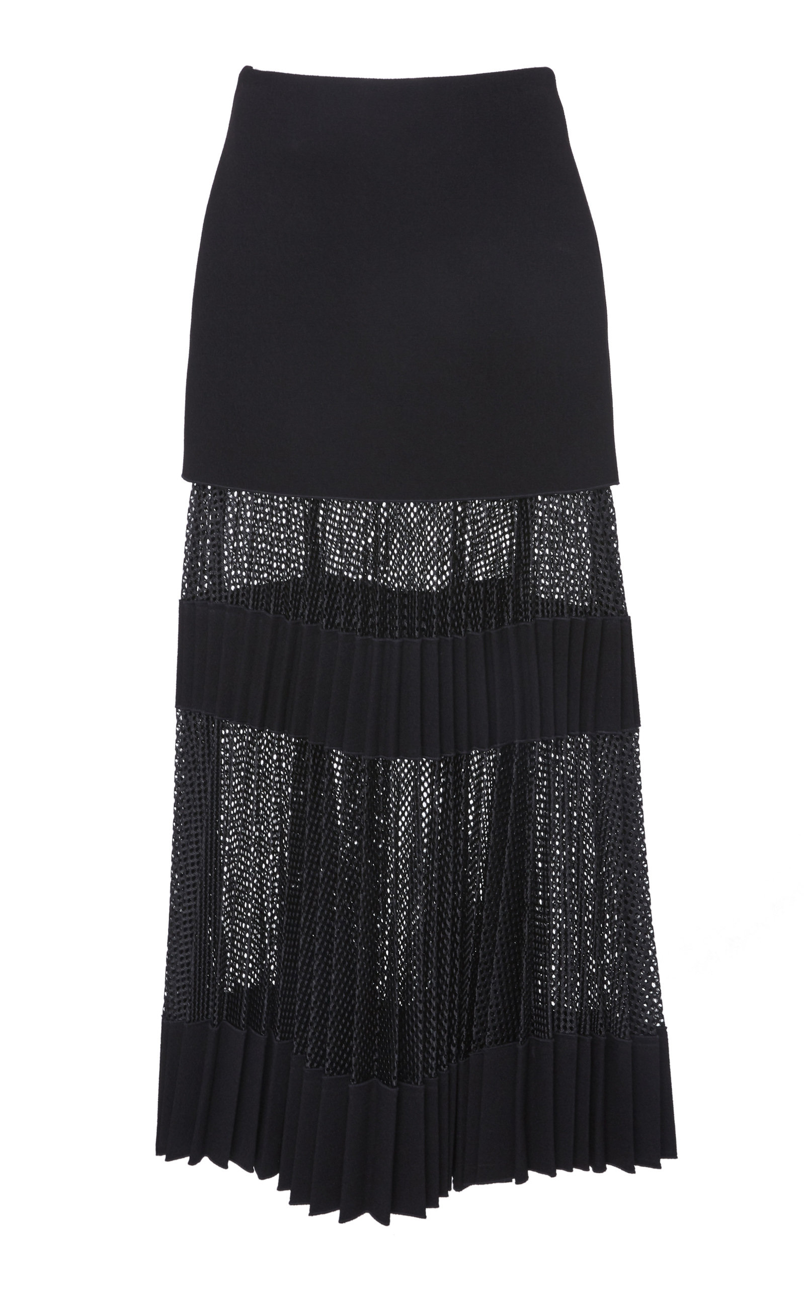 DION LEE PLEATED NET SKIRT