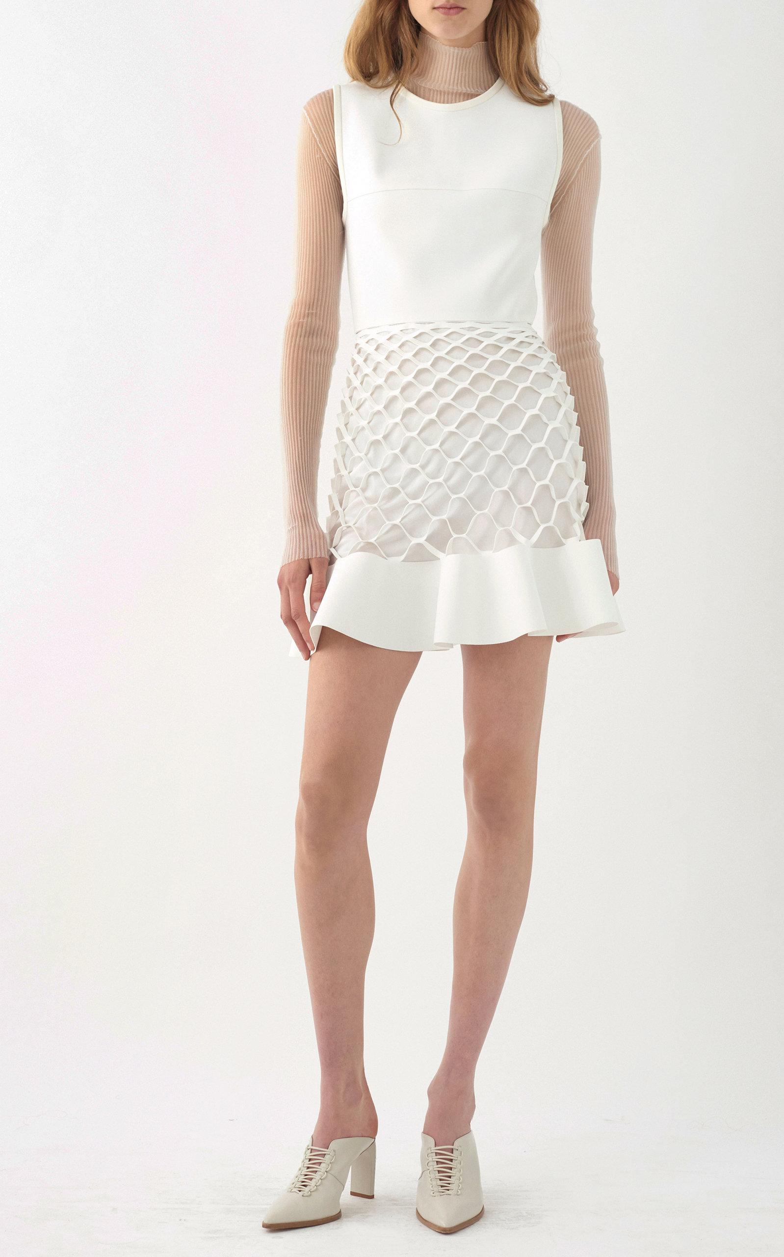 DION LEE Mini dresses HONEYCOMB RUFFLE DRESS