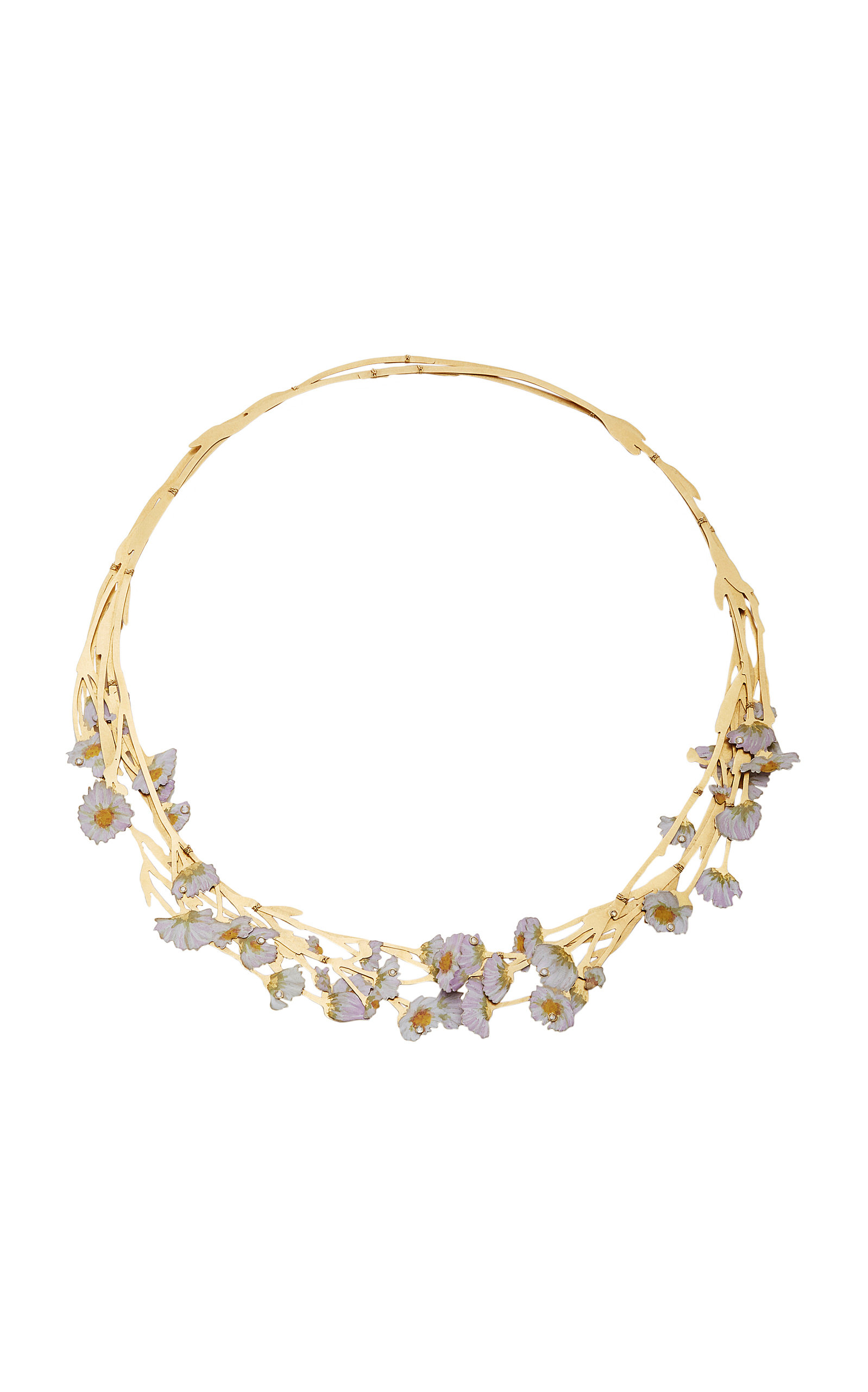 CHRISTOPHER THOMPSON ROYDS ONE-OF-A-KIND WILD ASTER NECKLACE