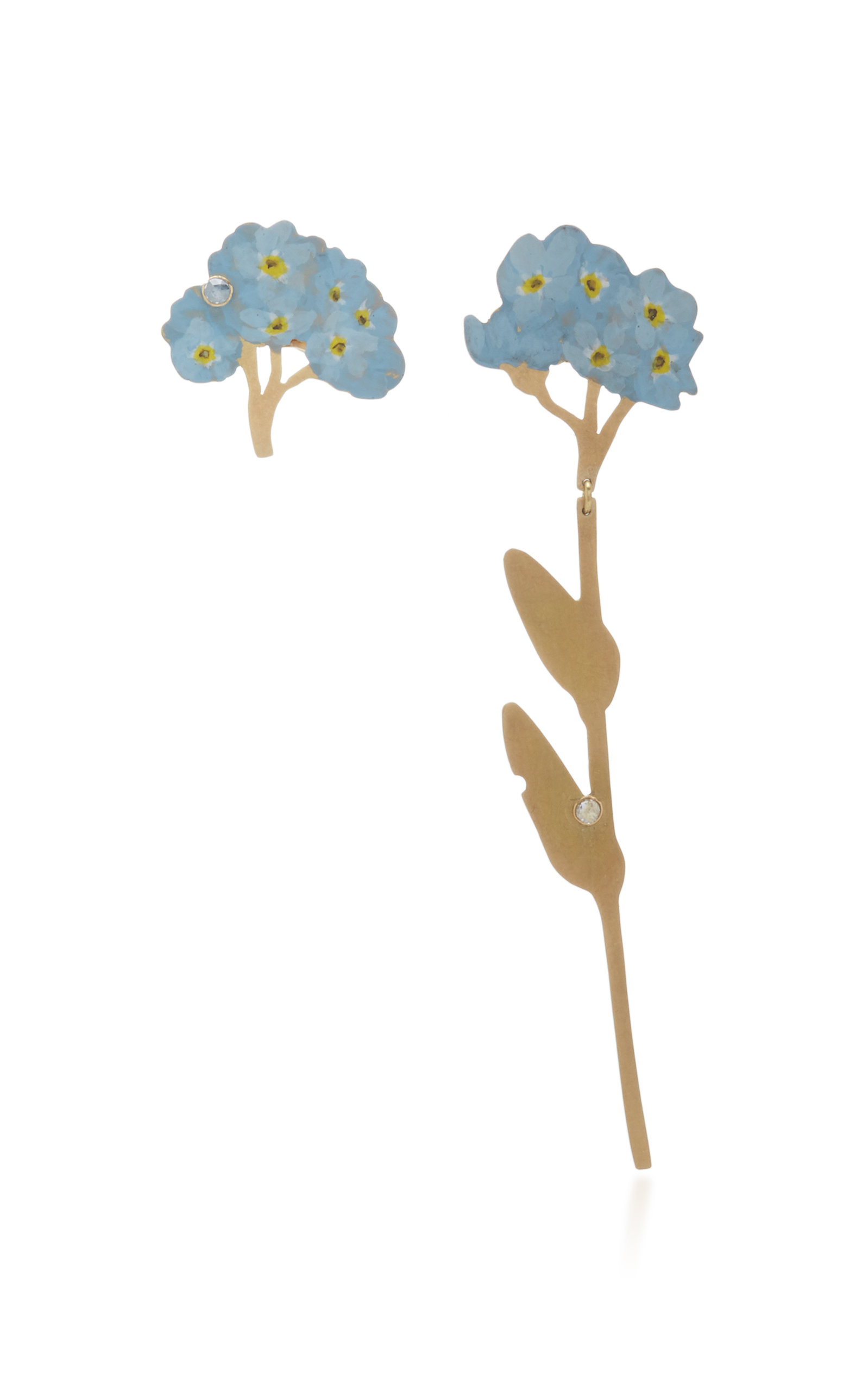 CHRISTOPHER THOMPSON ROYDS FORGET ME NOT DROP & STUD EARRINGS