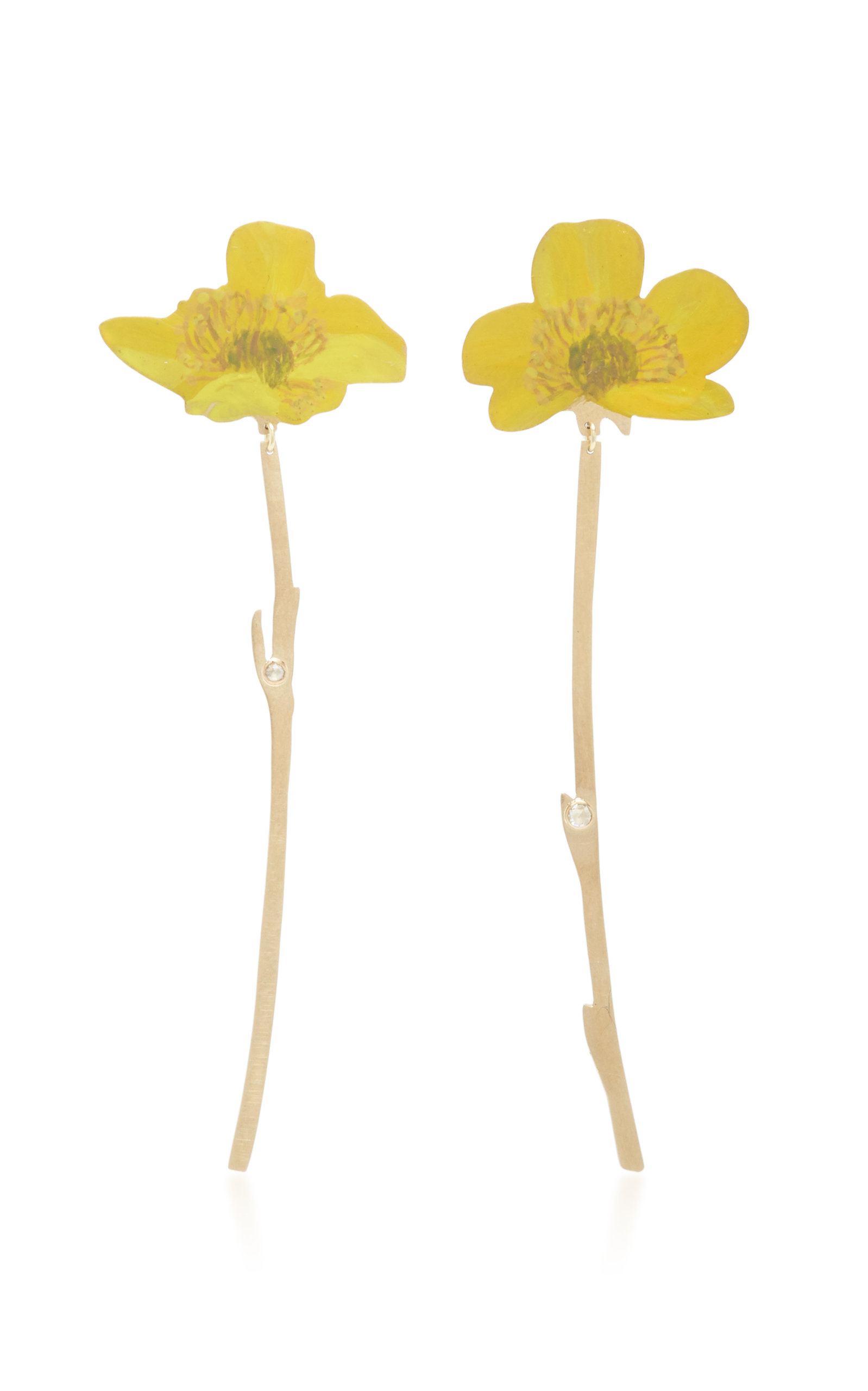 CHRISTOPHER THOMPSON ROYDS BUTTERCUP DROP EARRINGS