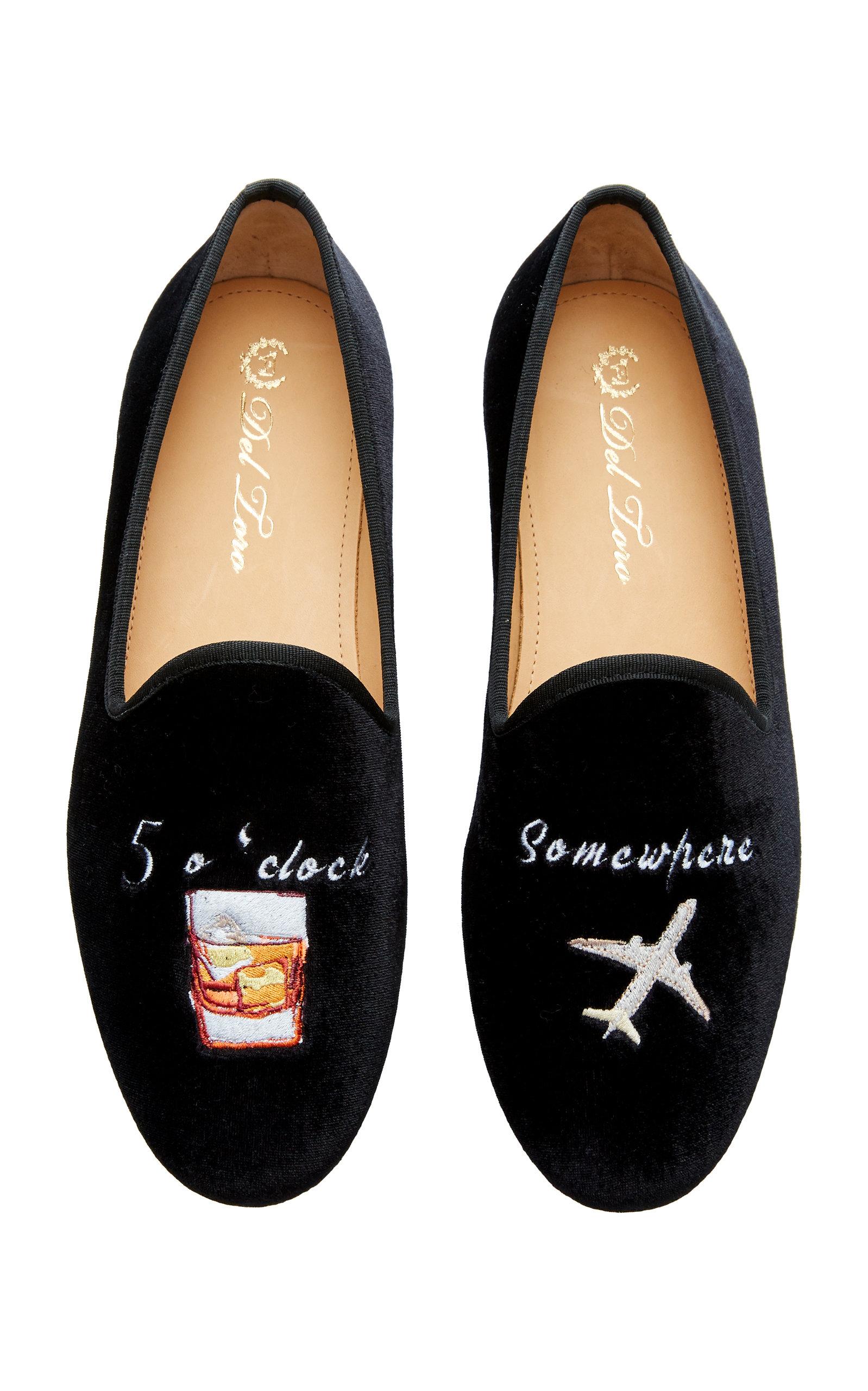 fdeeb2635 Del Toro x Moda Operandi 5 O'Clock Velvet Loafers by Del Toro | Moda ...