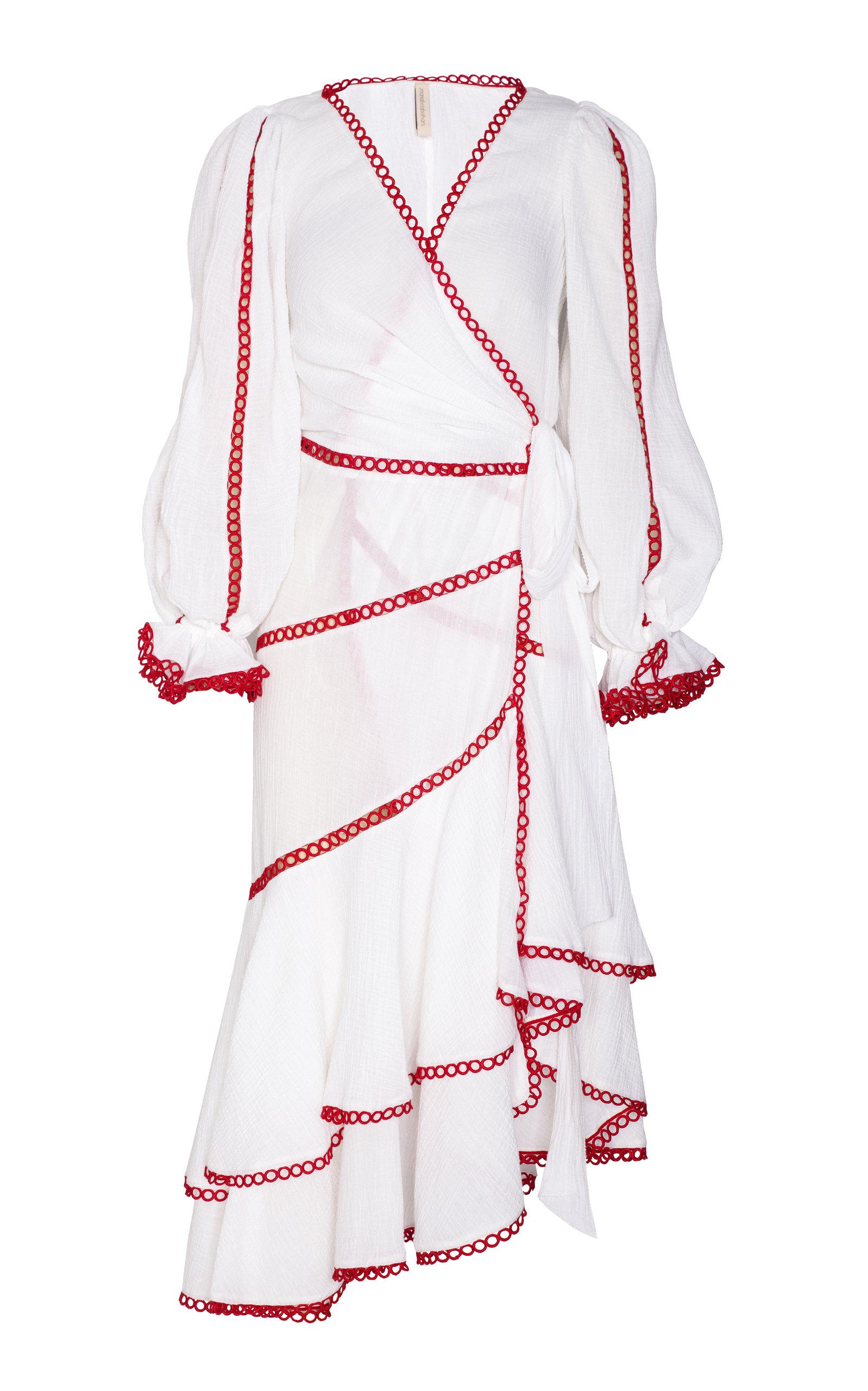 MARIA LUCIA HOHAN JOANNA COTTON VOILE WRAP DRESS